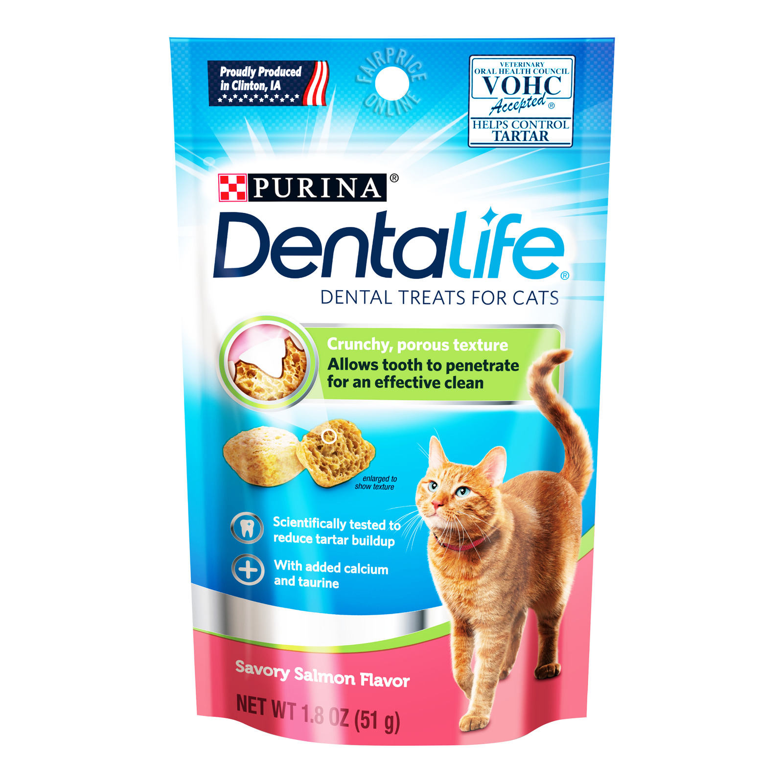 Purina Dentalife Dental Cat Treats - Savory Salmon
