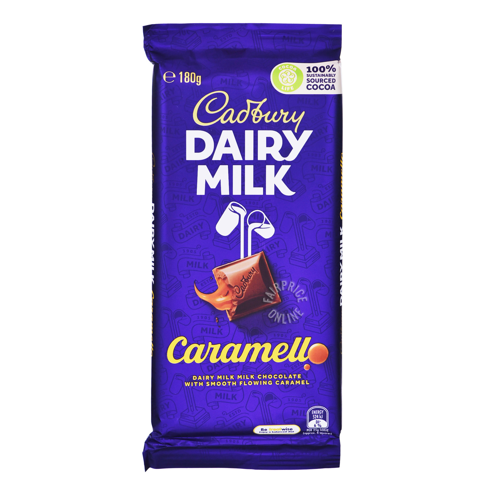 Cadbury Dairy Milk Chocolate Block - Caramello