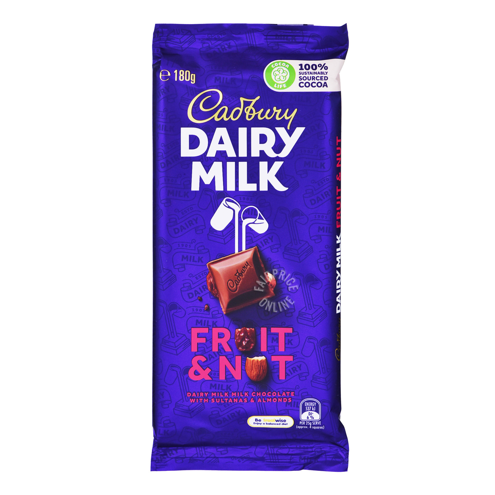 Cadbury Dairy Milk Chocolate Block - Fruit & Nut