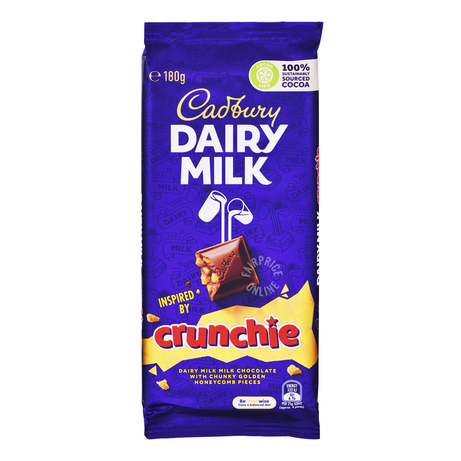 Cadbury Dairy Milk Chocolate Block - Crunchie