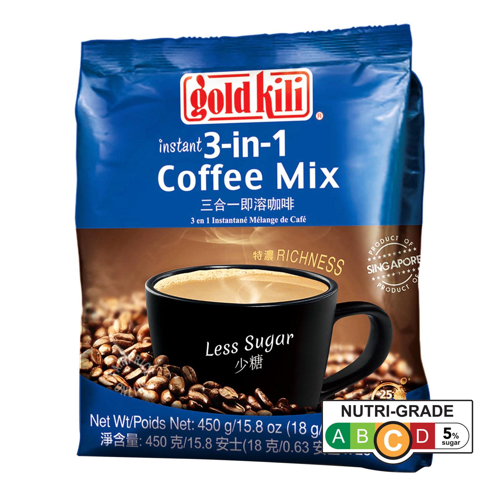 Gold Kili 3 In 1 Instant Coffee - Less Sugar