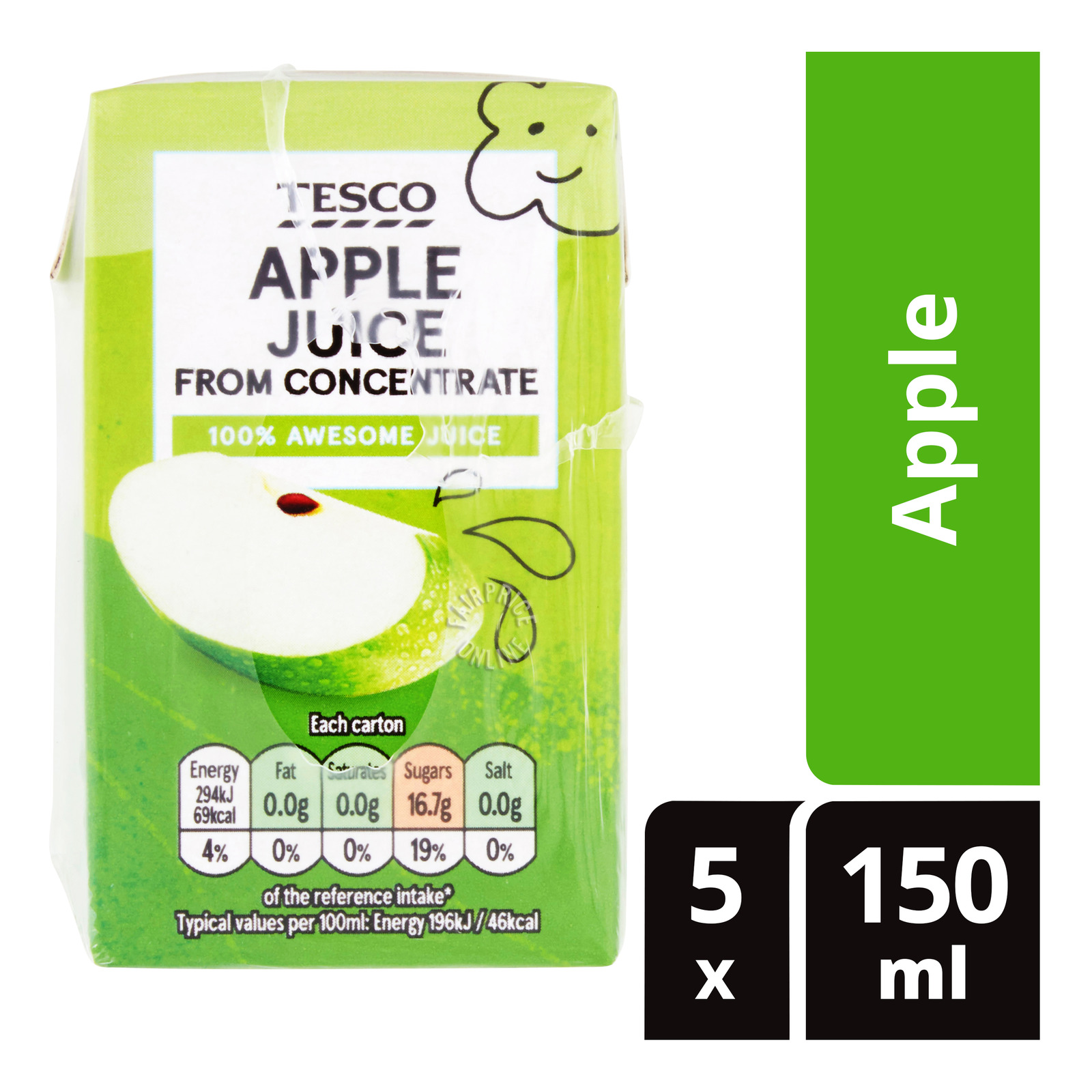 Tesco Juice From Concentrate Packet Drink - Apple