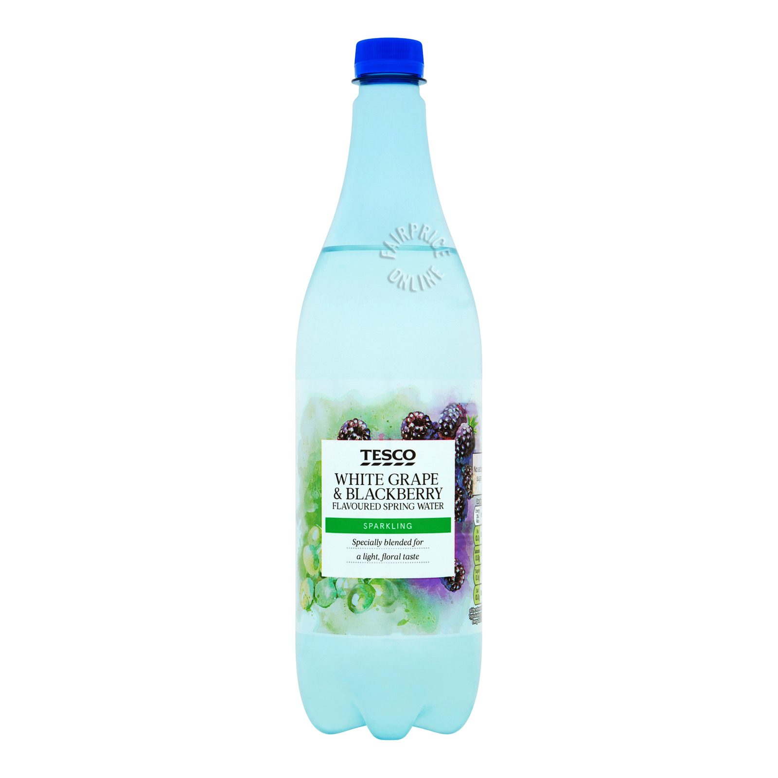 Tesco Flavoured Spring Water - White Grape & Blackberry