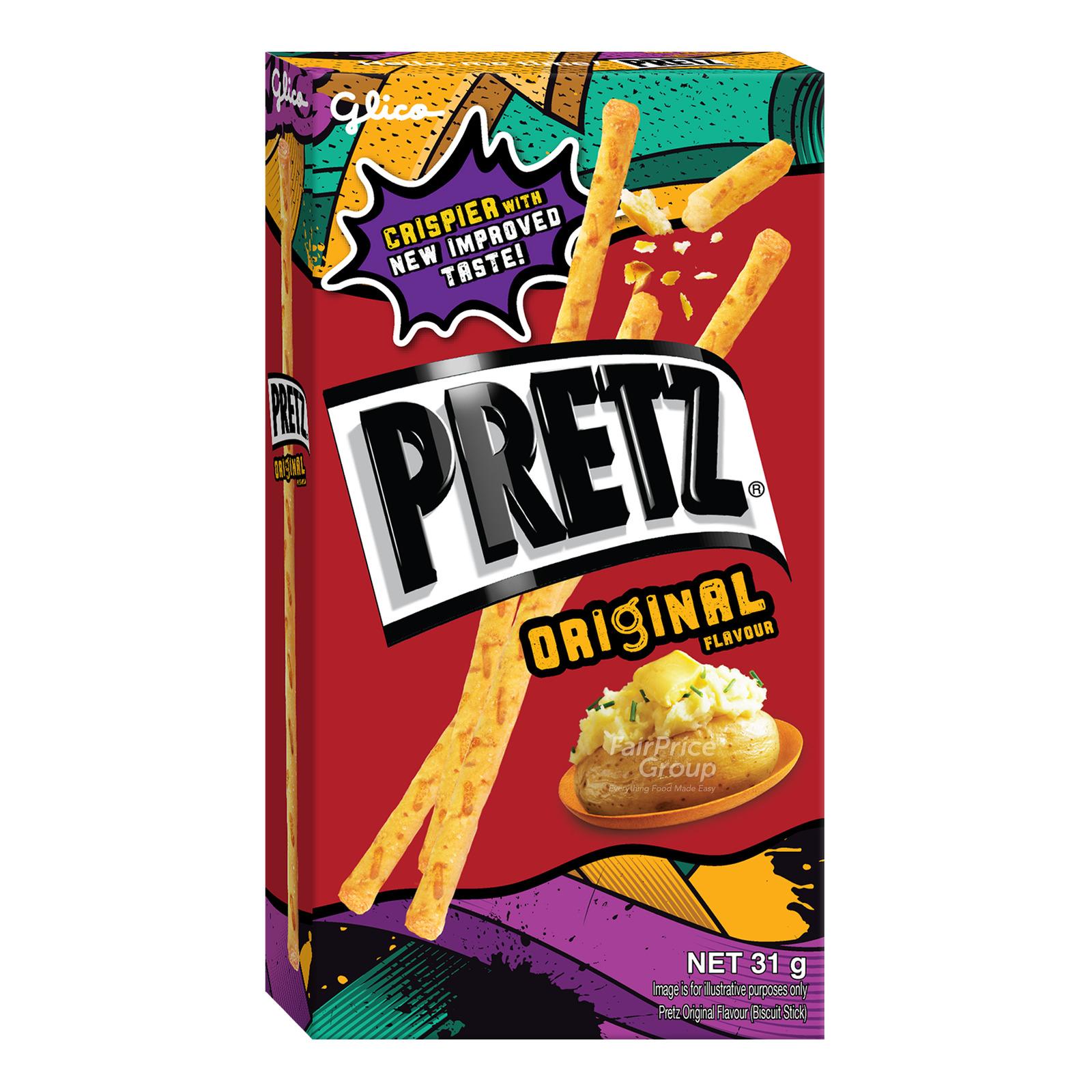 Glico Pretz Stick Biscuit Original Fairprice Singapore