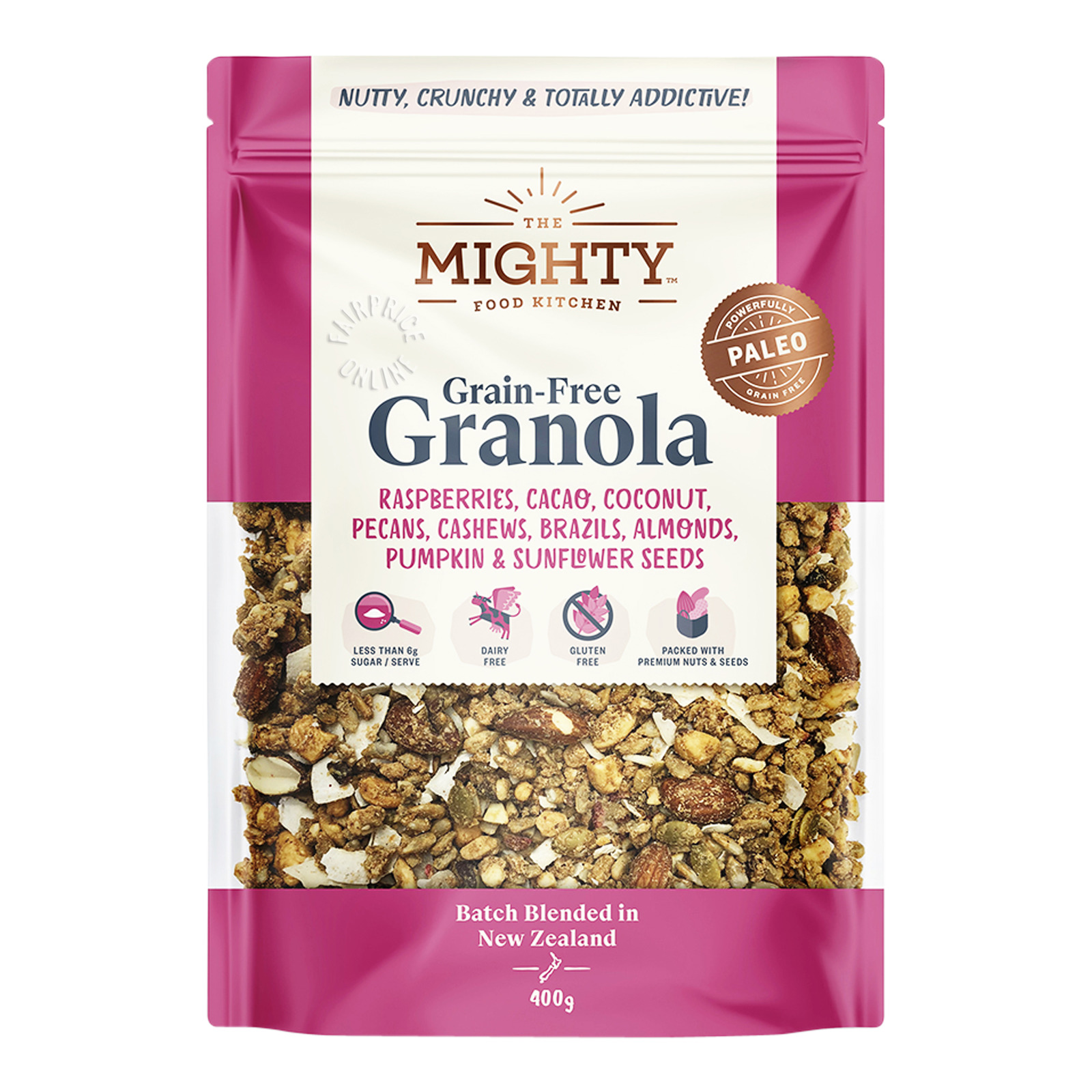 The Mighty Food Kitchen Grain-Free Granola - Fruits, Nuts &Seeds