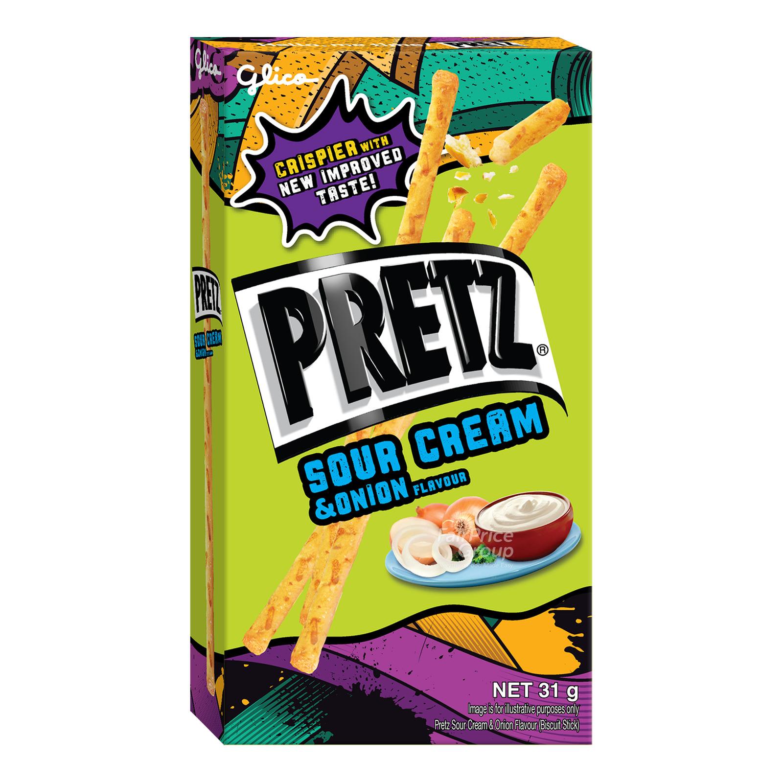 Glico Pretz Stick Biscuit - Sour Cream & Onion