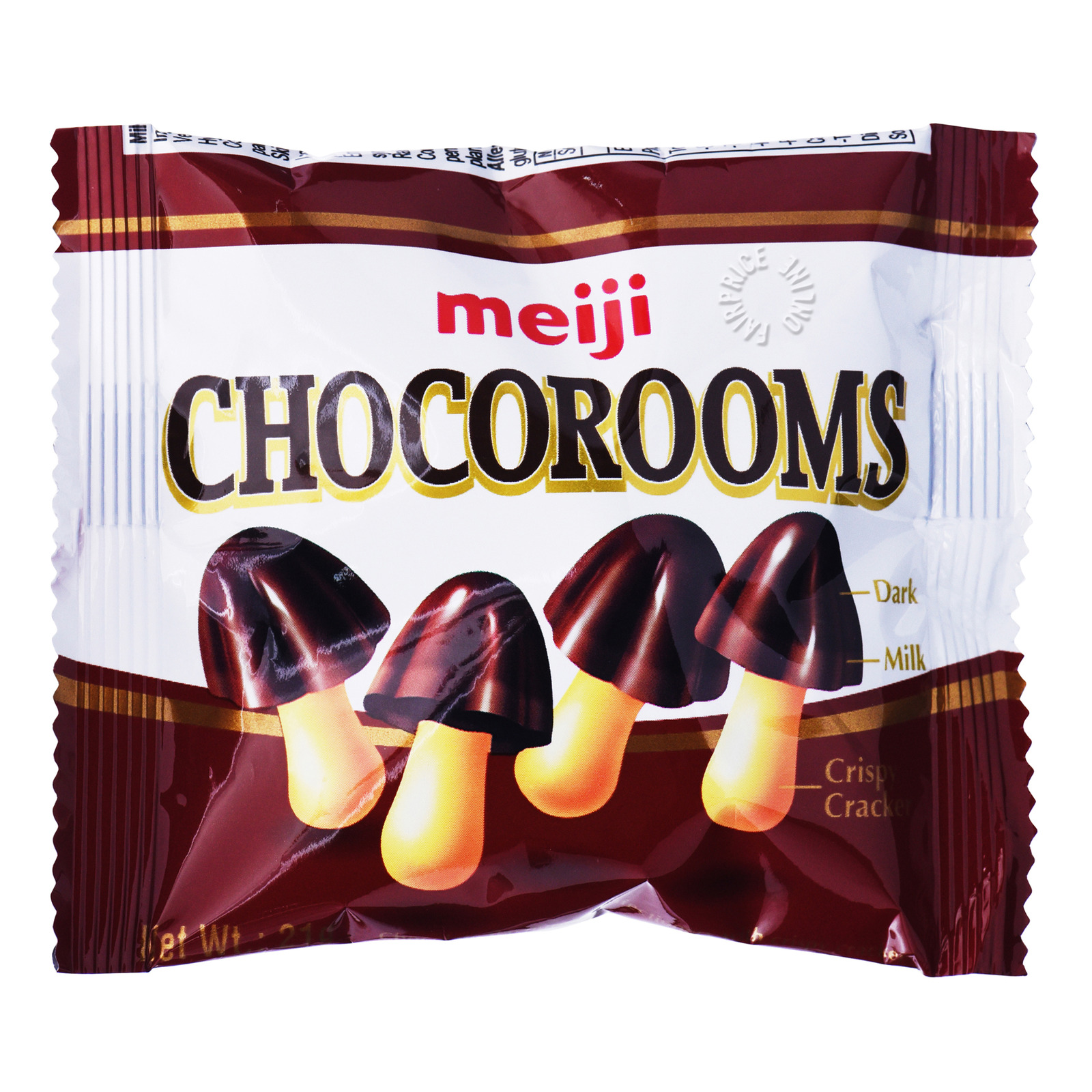 Meiji Chocorooms Crispy Cracker