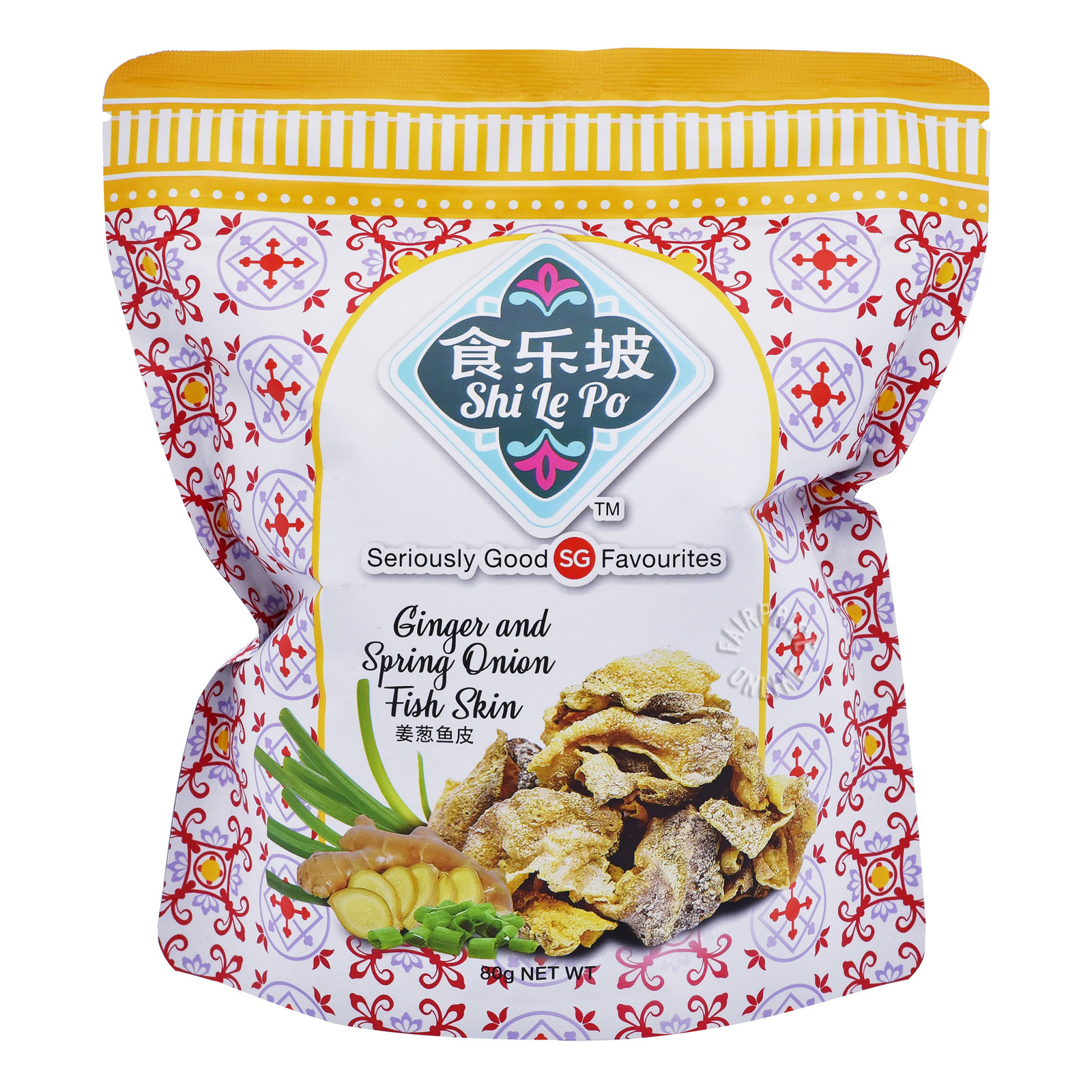 Shi Le Po Fish Skin Crackers - Ginger & Spring Onion