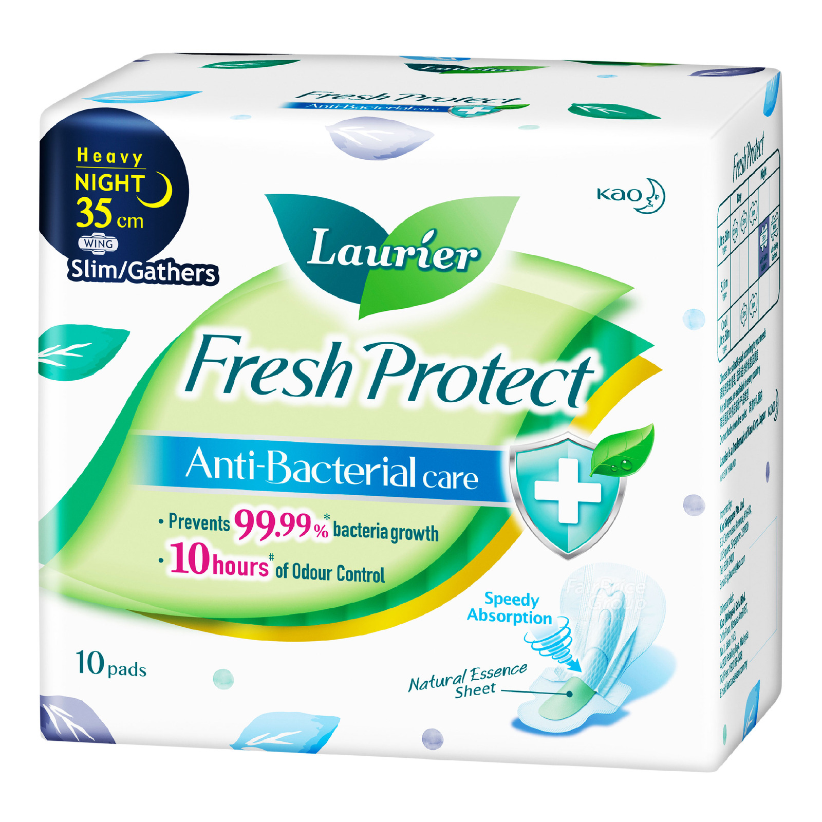 Laurier Fresh Protect Pads - Heavy Night Slim (35cm)