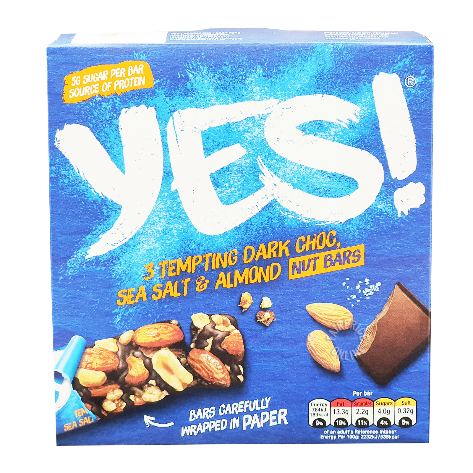 Yes! Nut Bars - Dark Choc, Sea Salt & Almond