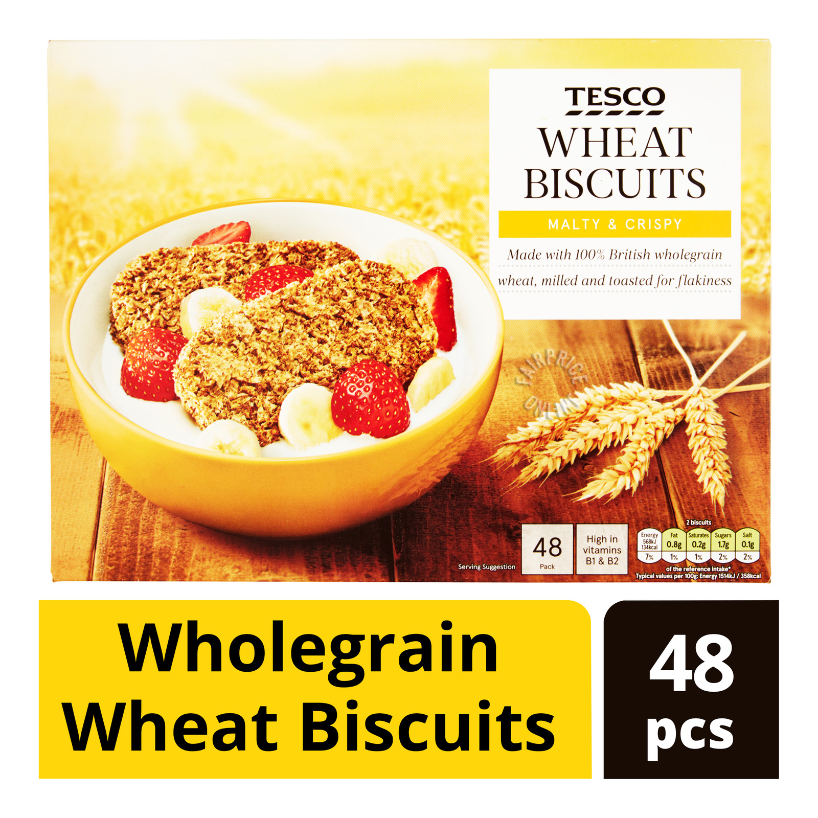 Tesco Wholegrain Wheat Biscuits