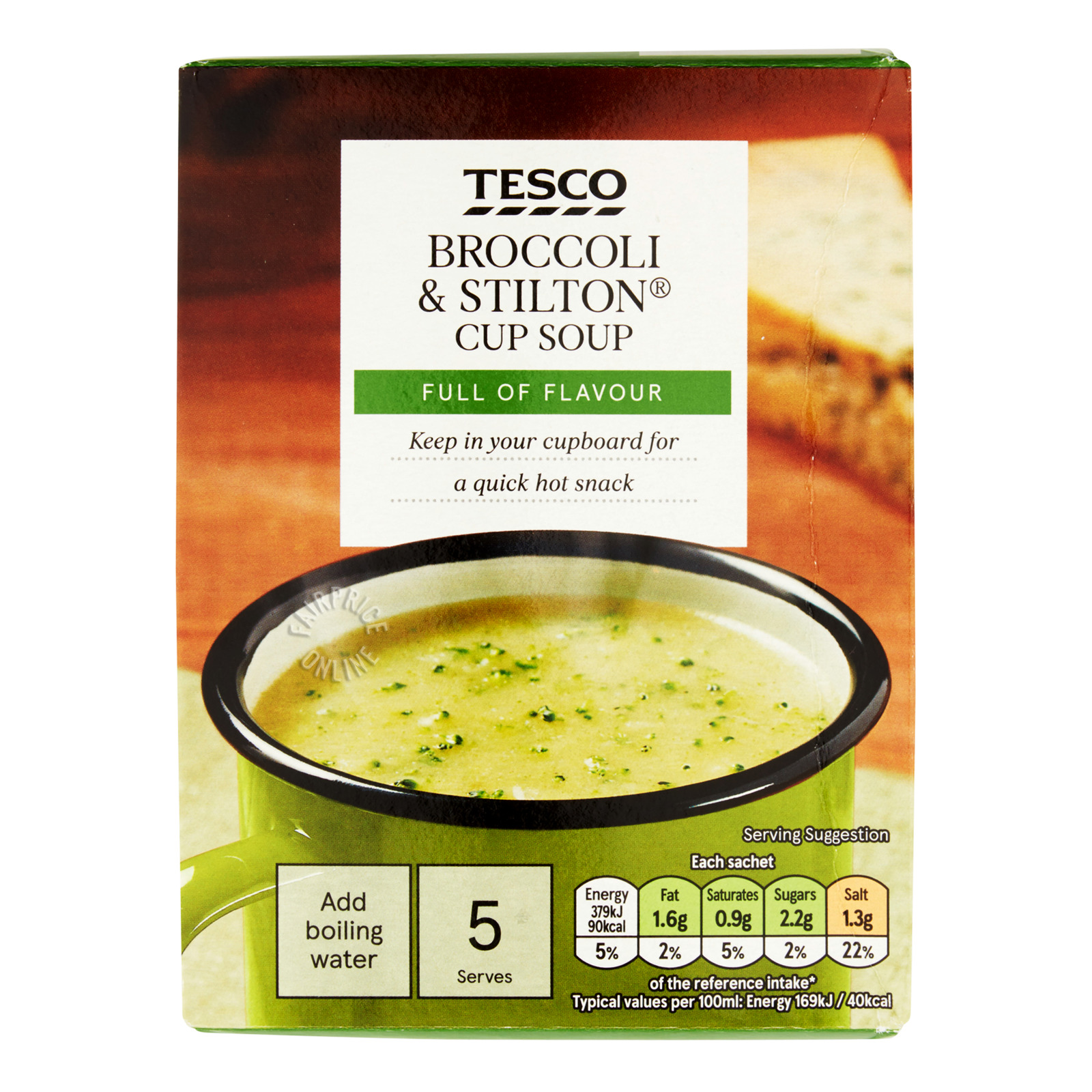 Tesco Instant Cup Soup - Broccoli & Stilton
