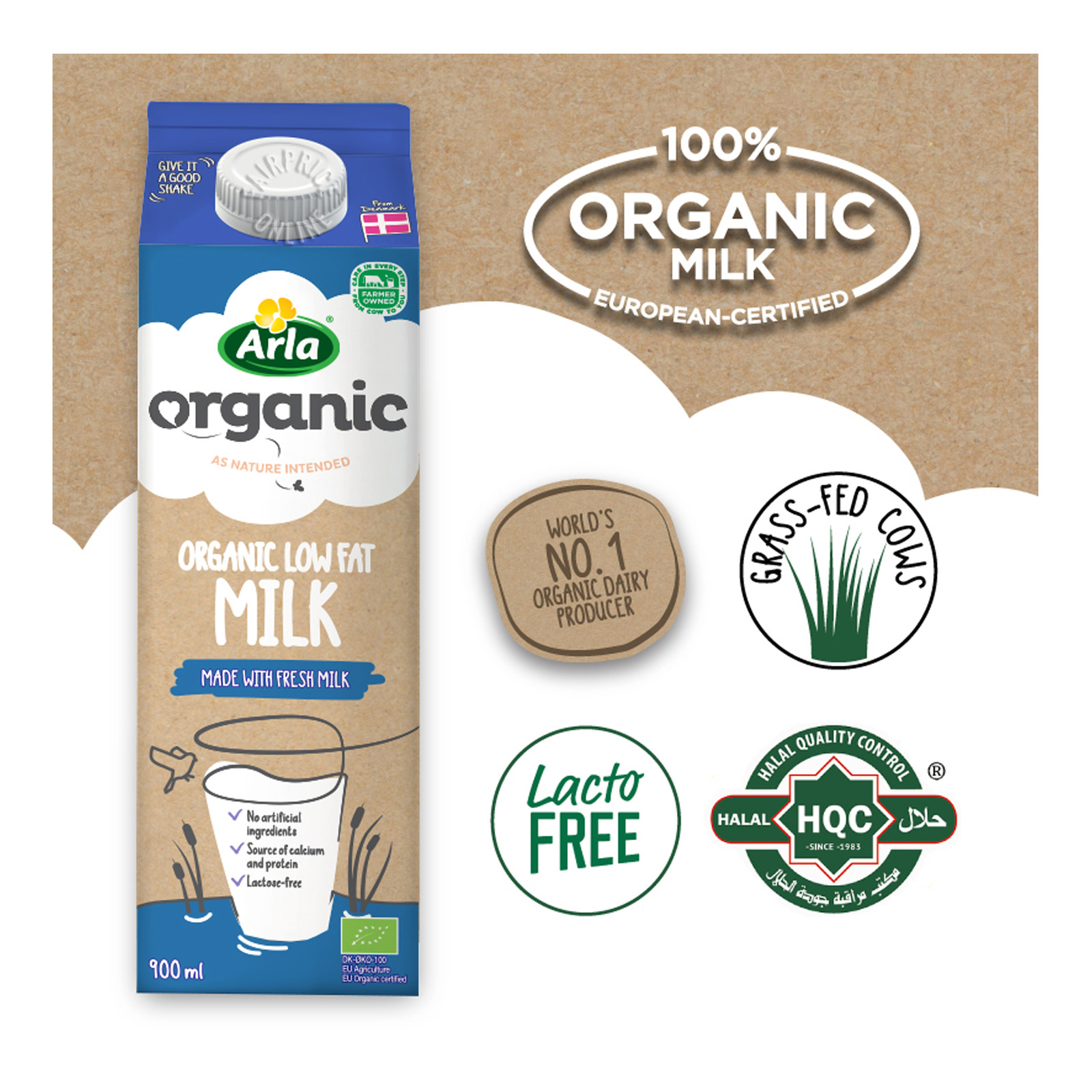 Arla Organic Milk - Low Fat
