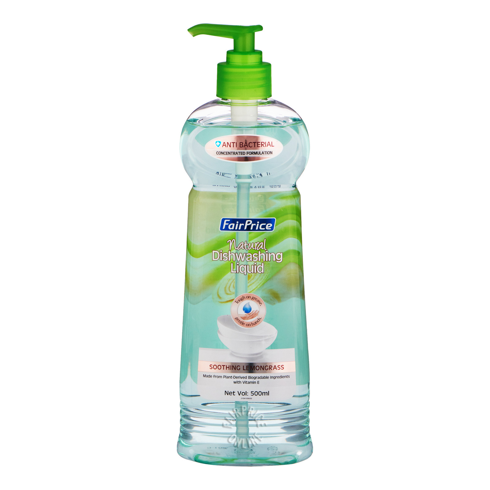 FairPrice Natural Concentrated Dishwashing Liquid - Lemongrass