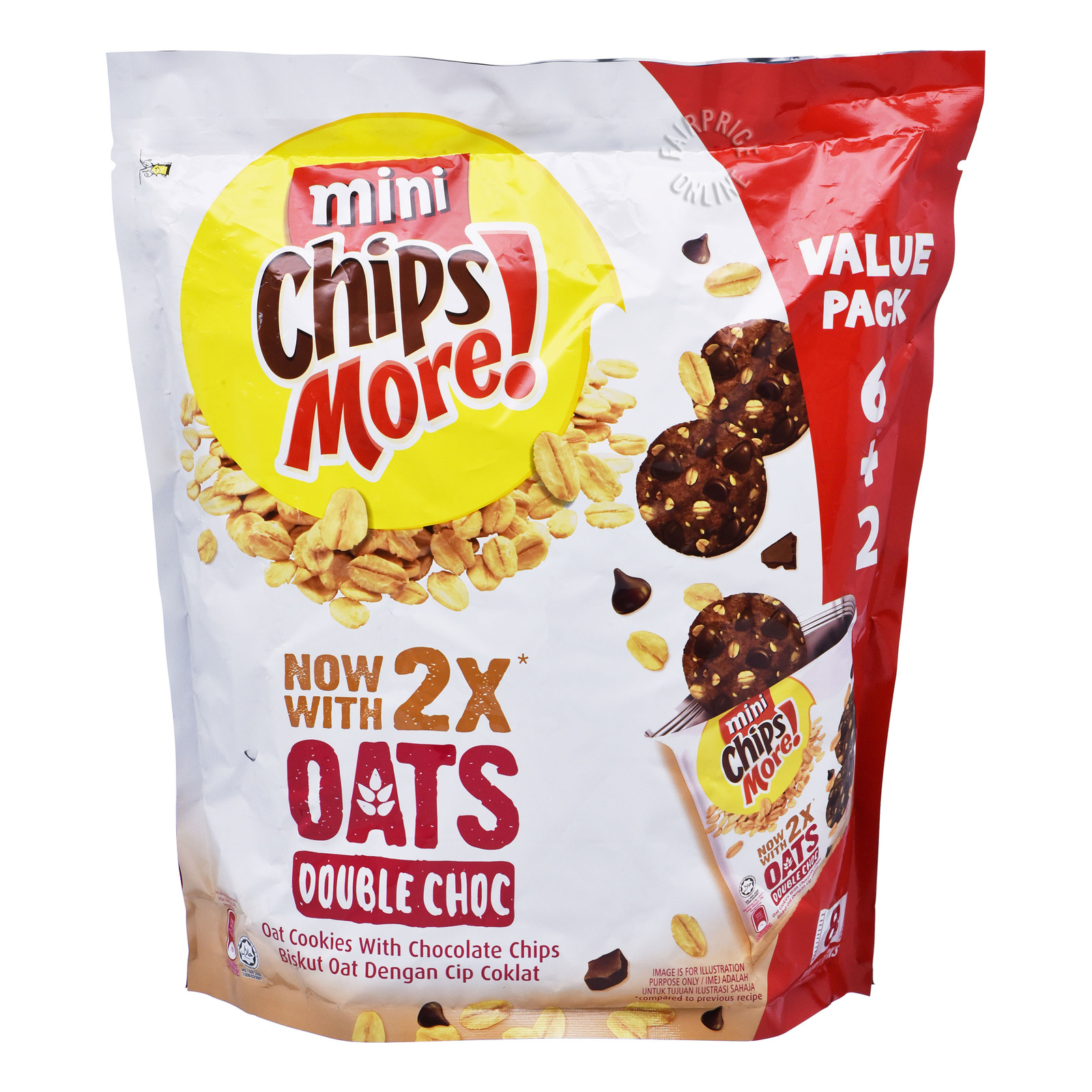 Chipsmore Chocolate Chip Cookies with Oats Minis-Double Choc