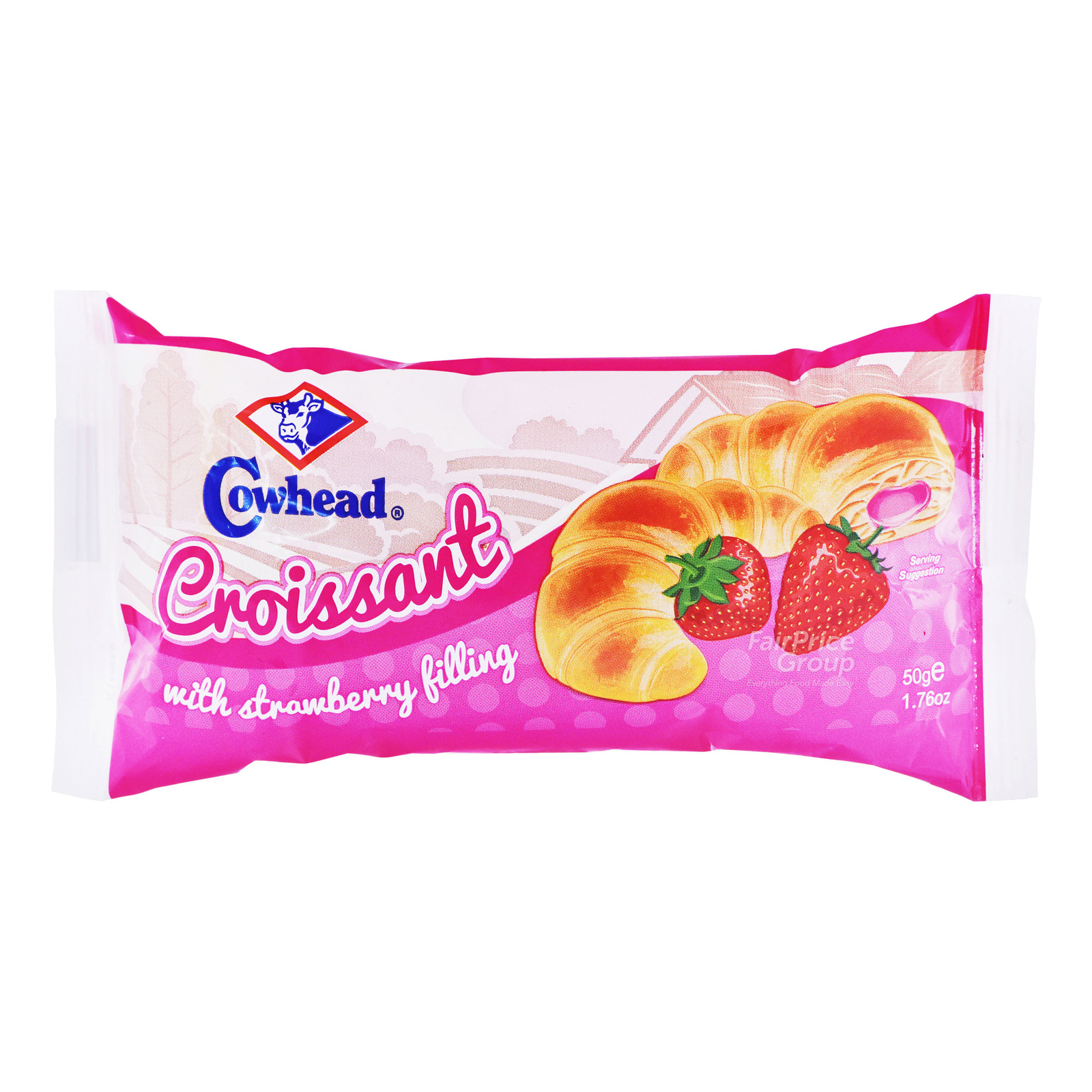 Cowhead Crossiant with Filling - Strawberry