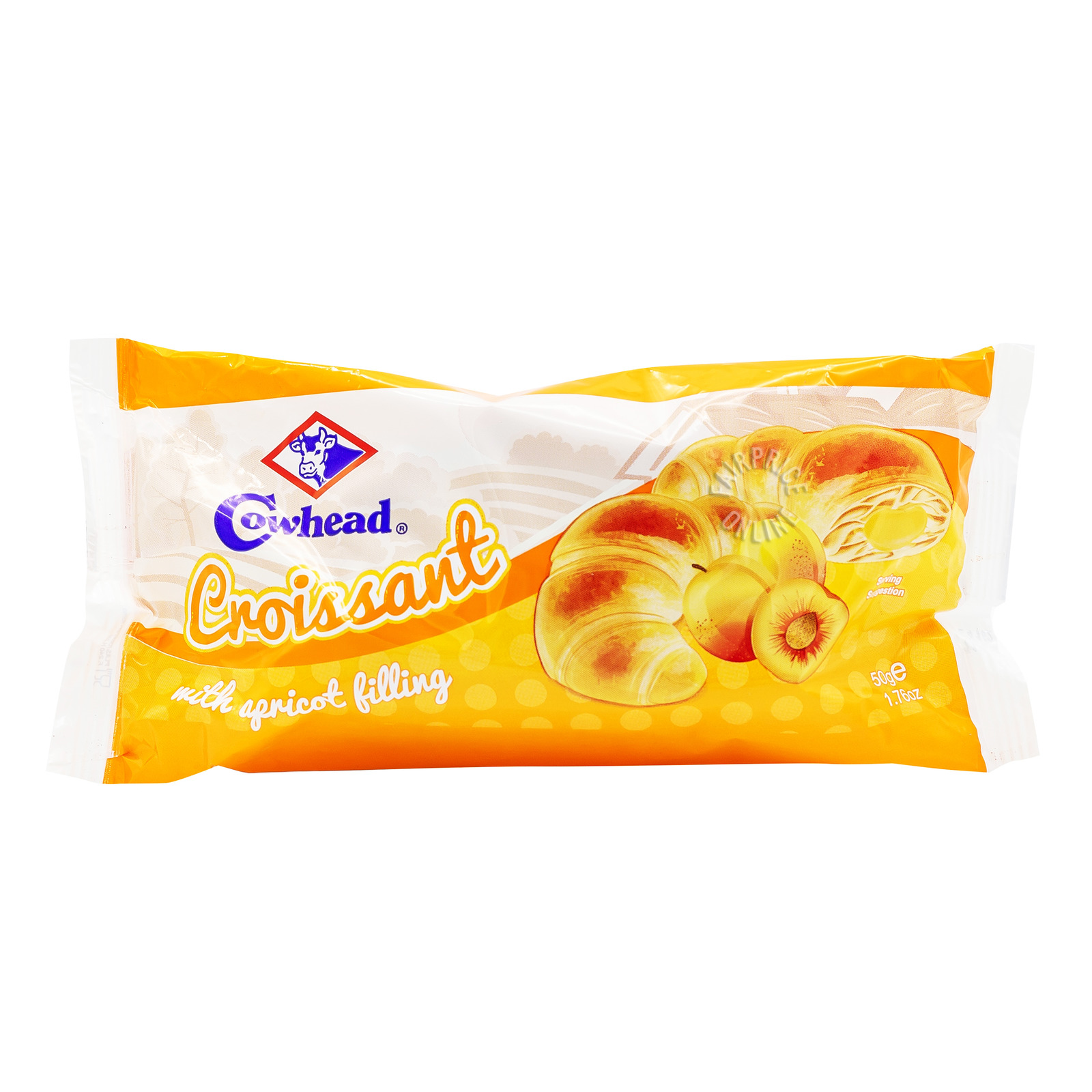 Cowhead Crossiant with Filling - Apricot