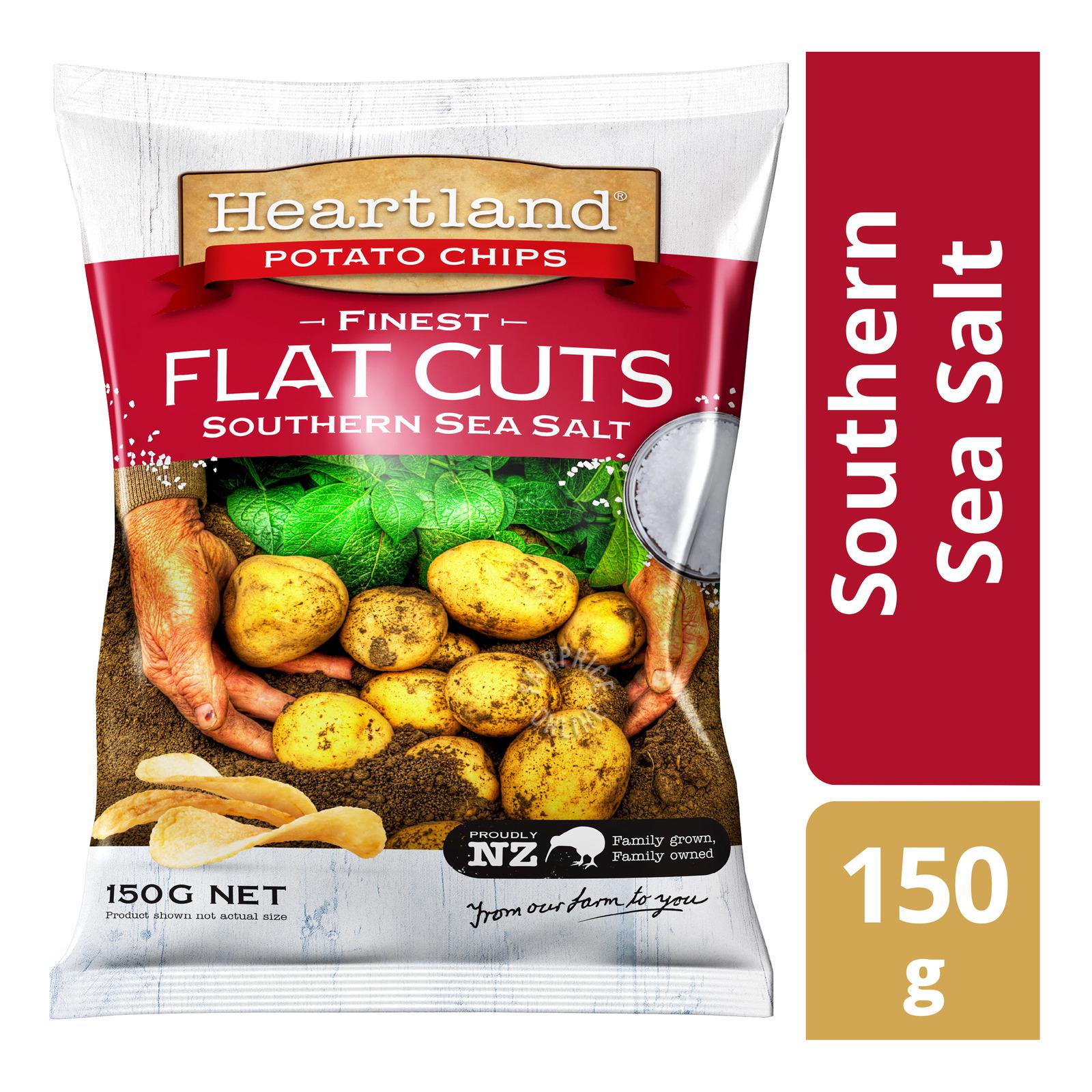 Heartland Flat Cuts Potato Chips - Southern Sea Salt