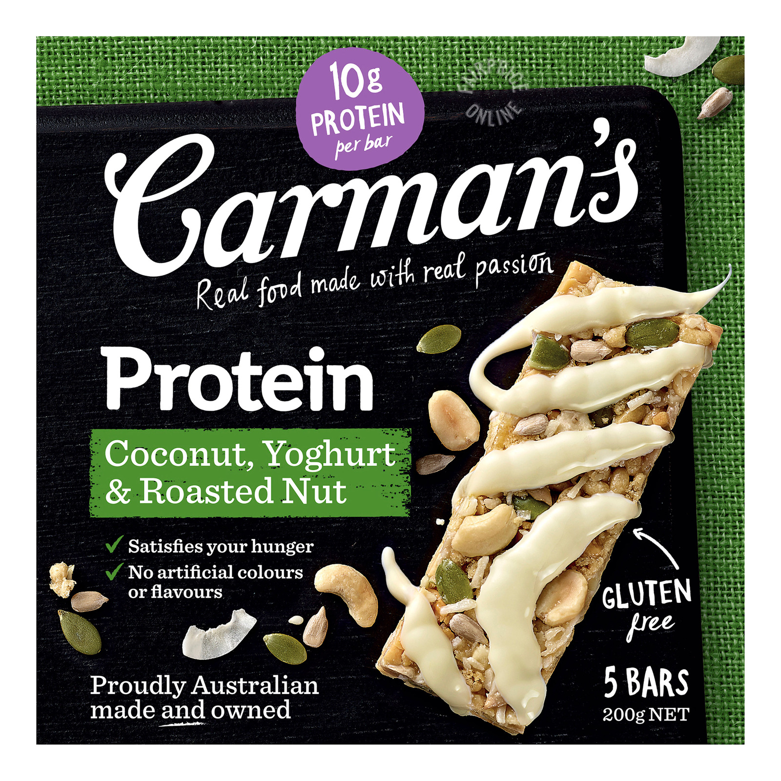Carman's Protein Bars - Coconut, Yoghurt & Roasted Nut