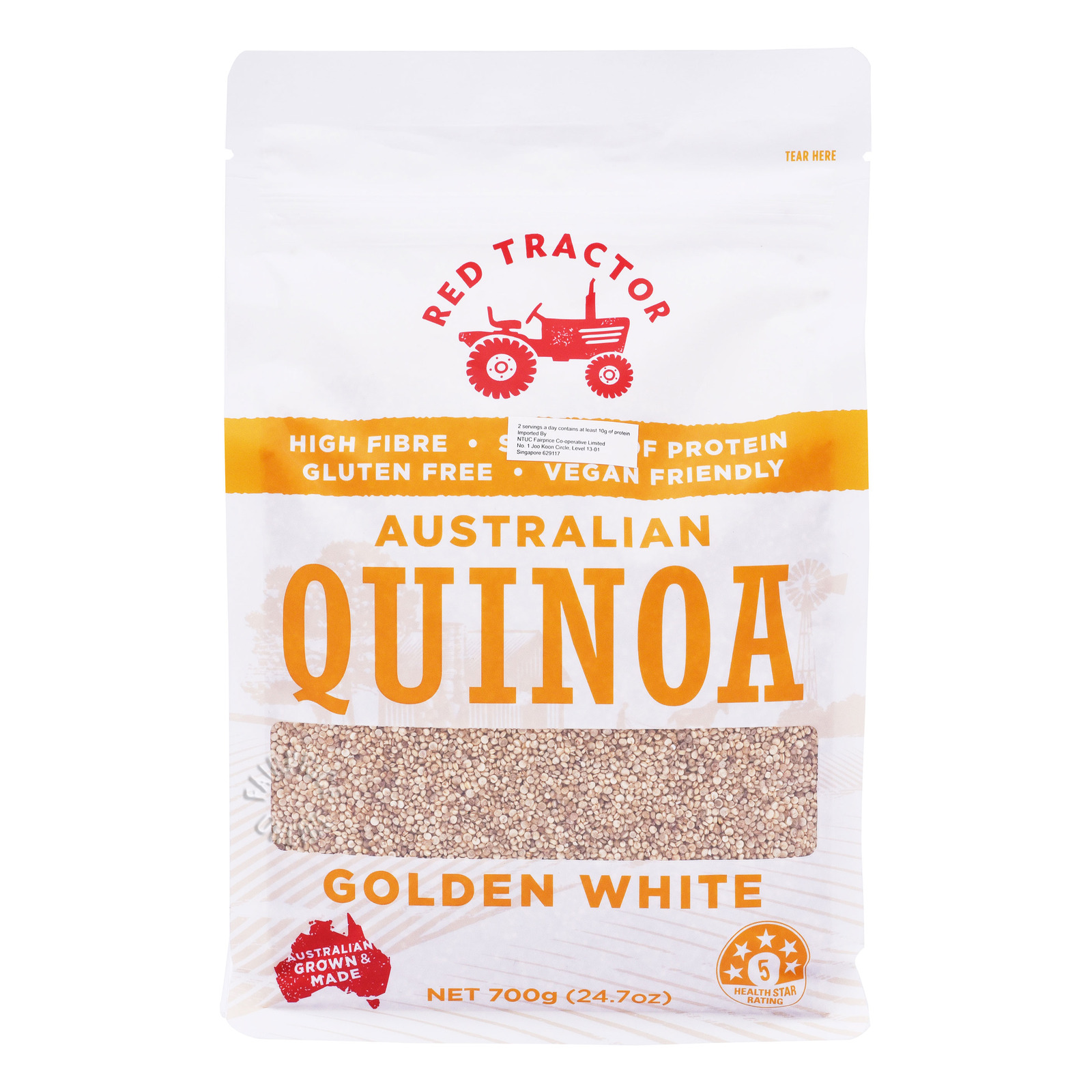 Red Tractor Foods Organic Quinoa - White