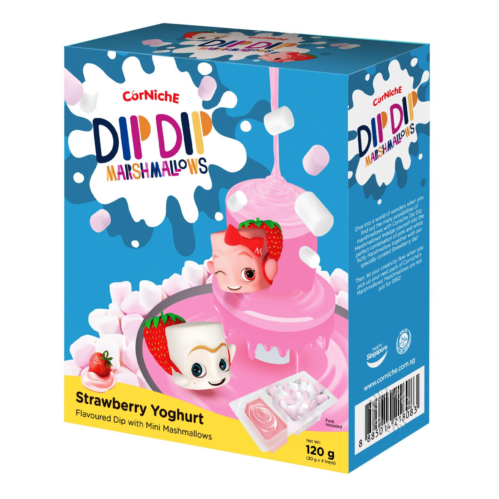 Corniche Dip Dip Mini Marshmallows - Strawberry Yoghurt