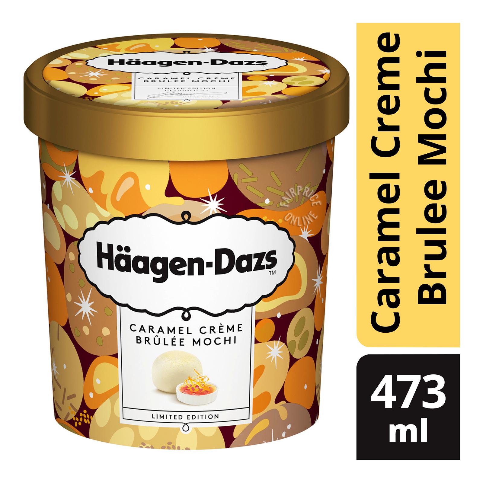 Haagen-Dazs Ice Cream - Caramel Creme Brulee Mochi