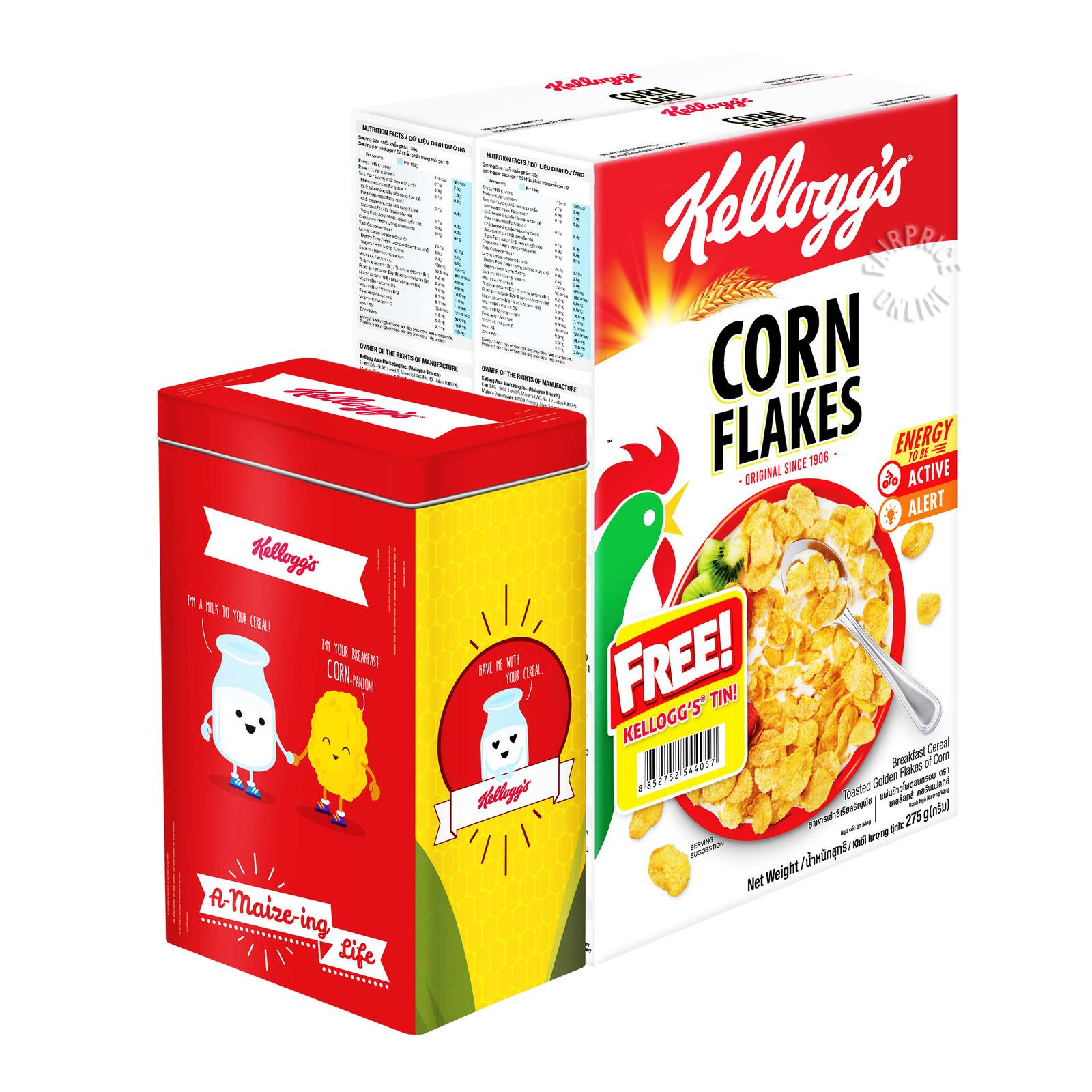 Kellogg's Cereal - Cornflakes + Tin