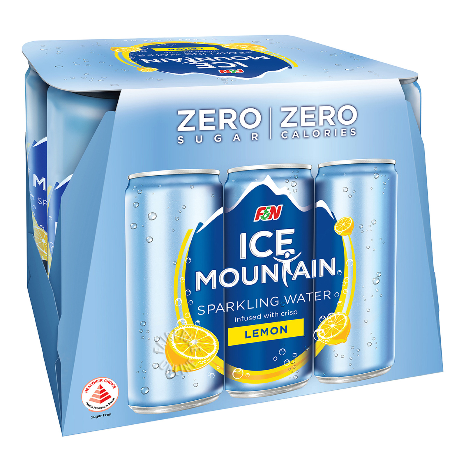 F&N Ice Mountain Sparkling Can Water - Lemon (No Sugar)