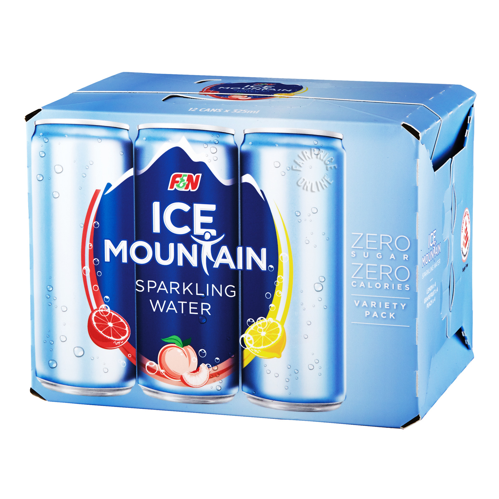 F&N Ice Mountain Sparkling Can Drink - Variety Pack