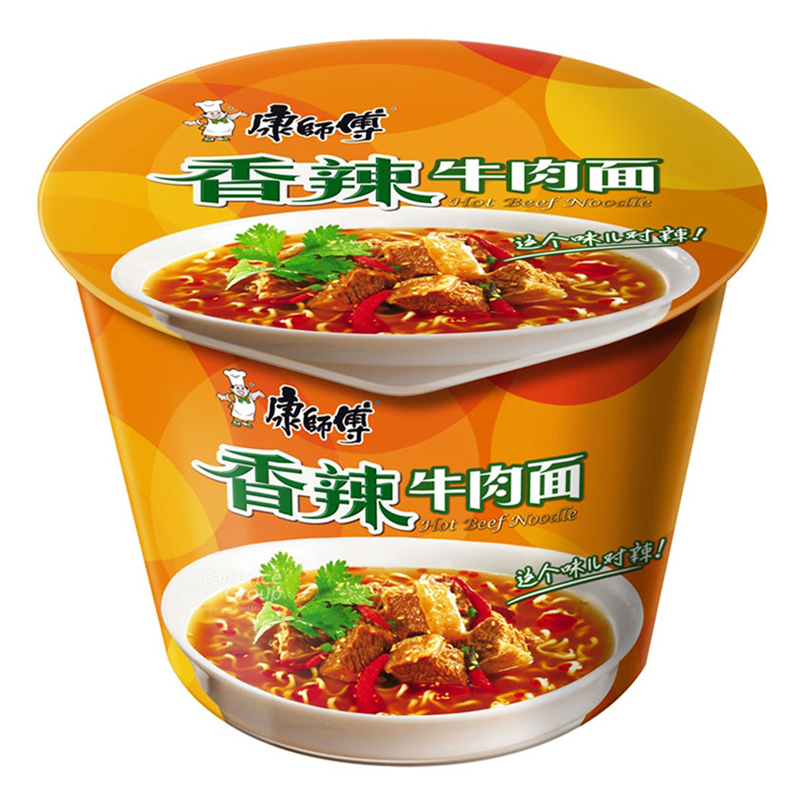 Kang Shi Fu Instant Bowl Noodle - Hot Spicy