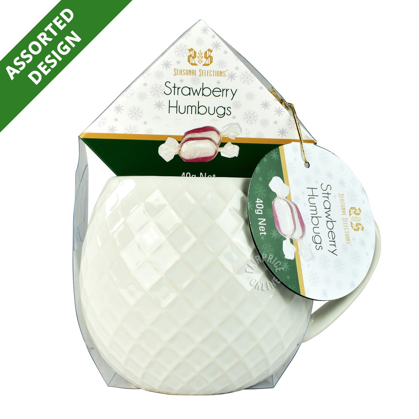 Seasonal Selections Humbugs with Mug - Strawberry
