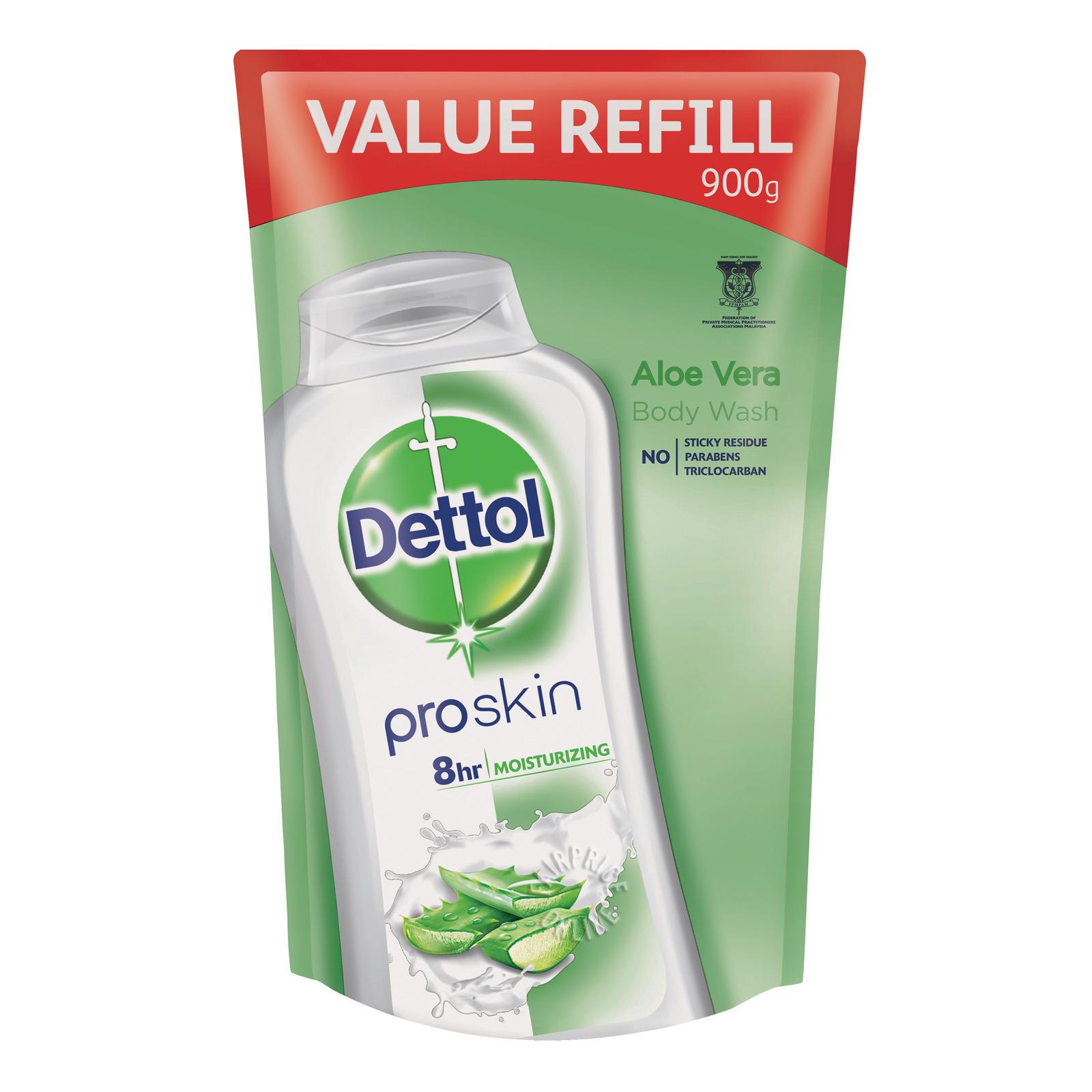 Dettol Proskin Antibacterial Body Wash Refill - Aloe Vera