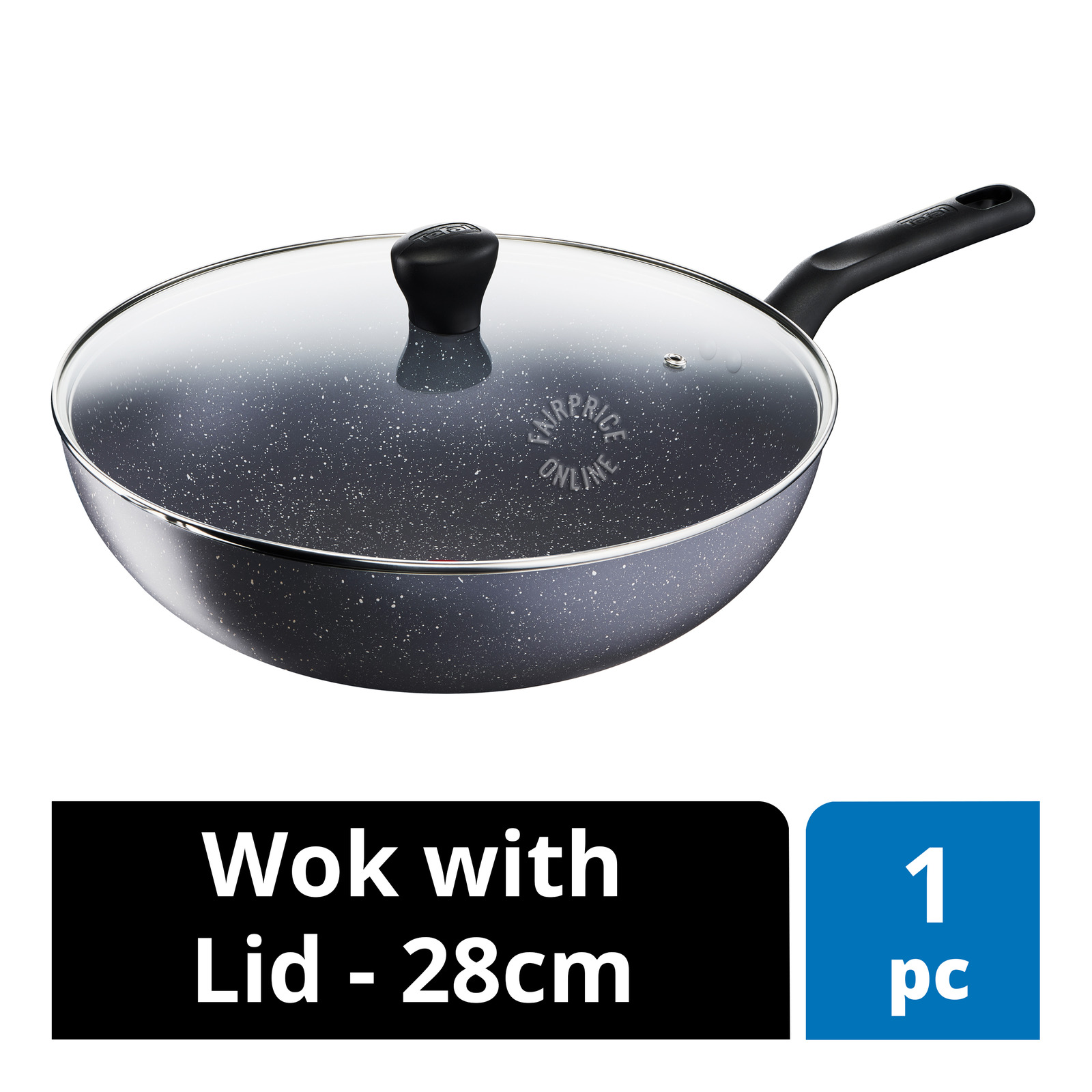 Tefal Natura Wok with Lid - 28cm