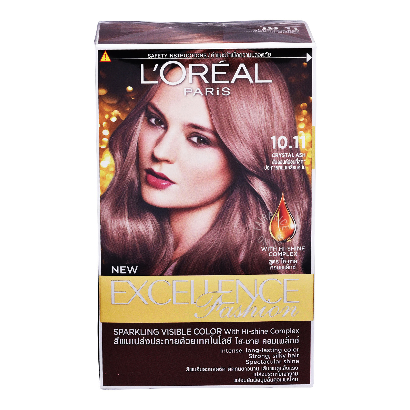 L'Oreal Paris New ExcellenceFashionHairDye-10.11CrystalAsh
