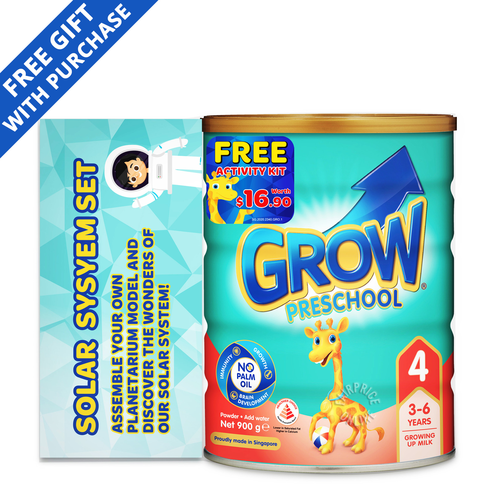 Grow Preschool Growing Up Milk Formula - Stage 4 + Actvity Kit