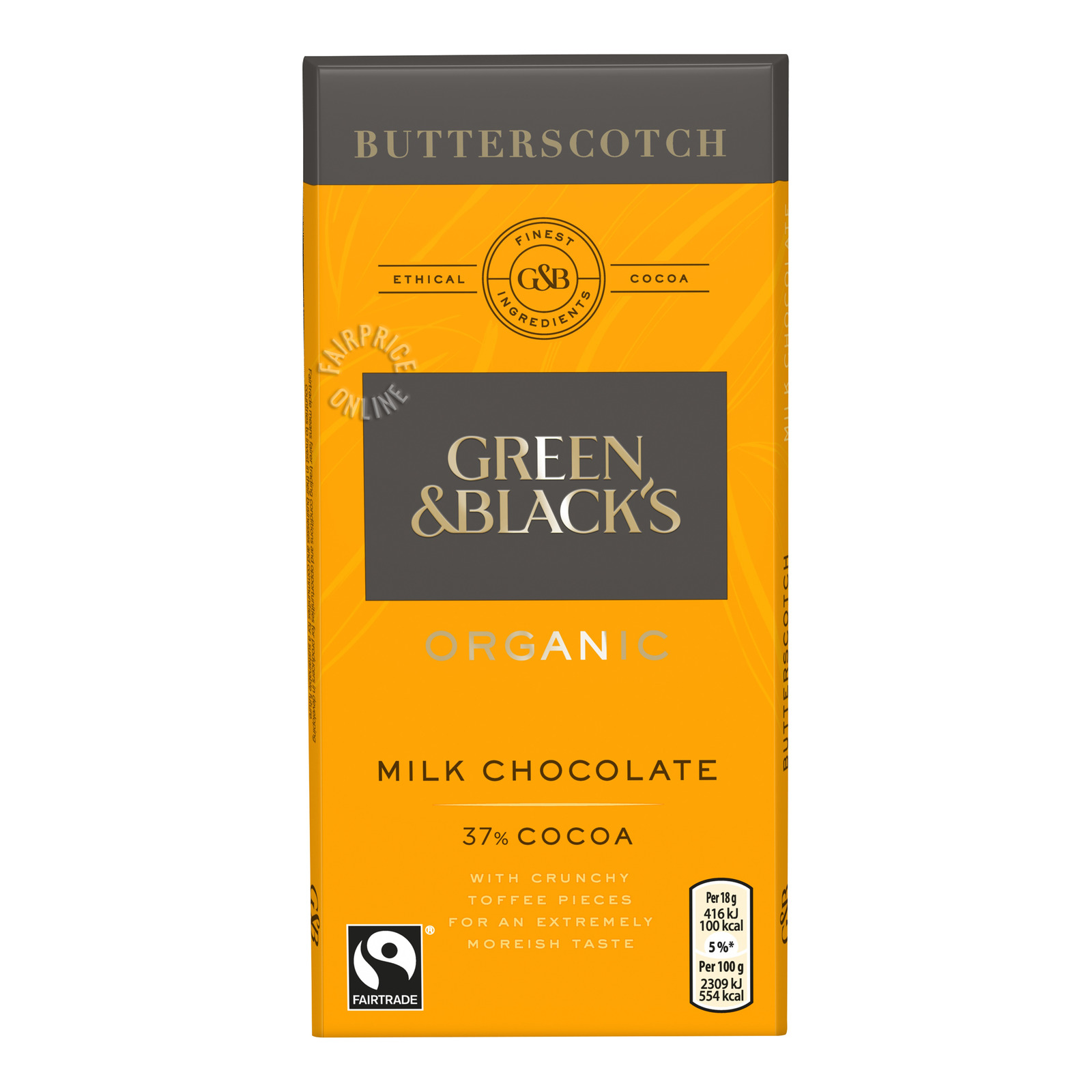 Green & Black's Organic Milk Chocolate Bar-Butterscotch