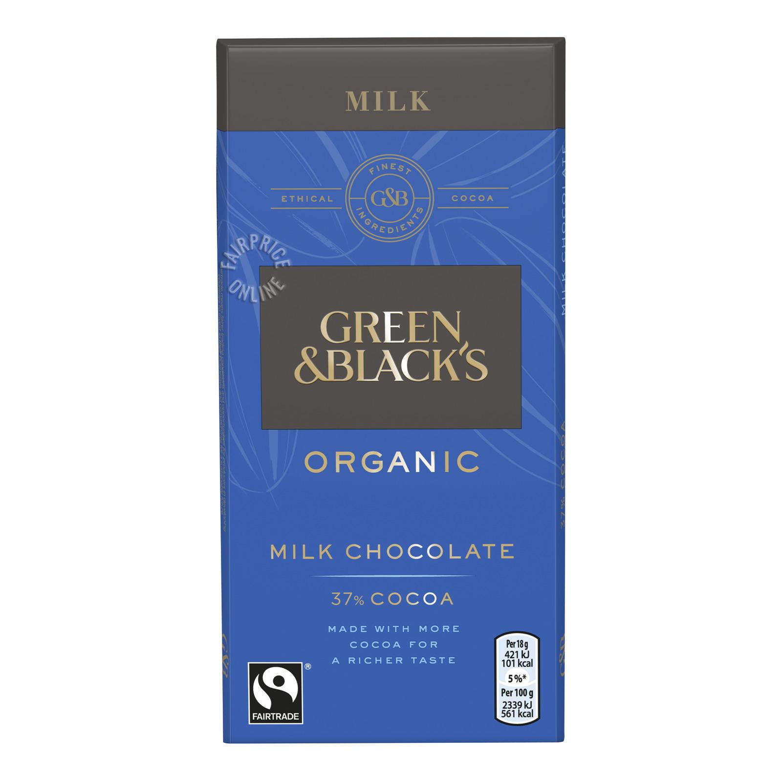 GREEN & BLACKS Organic Milk Chocolate 37% 90g