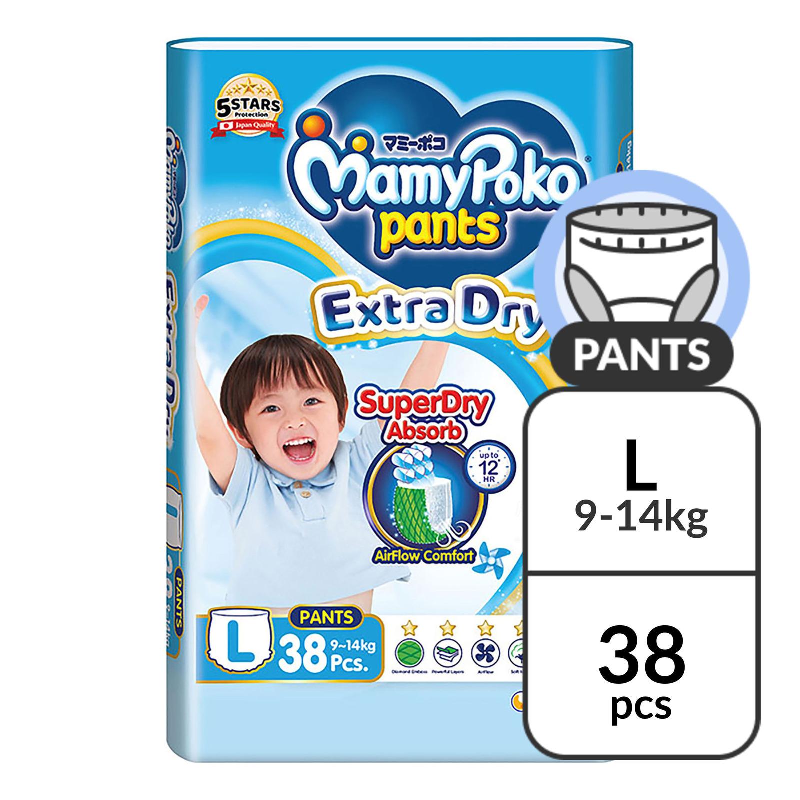 MamyPoko Extra Dry Pants - L (9 - 14kg)
