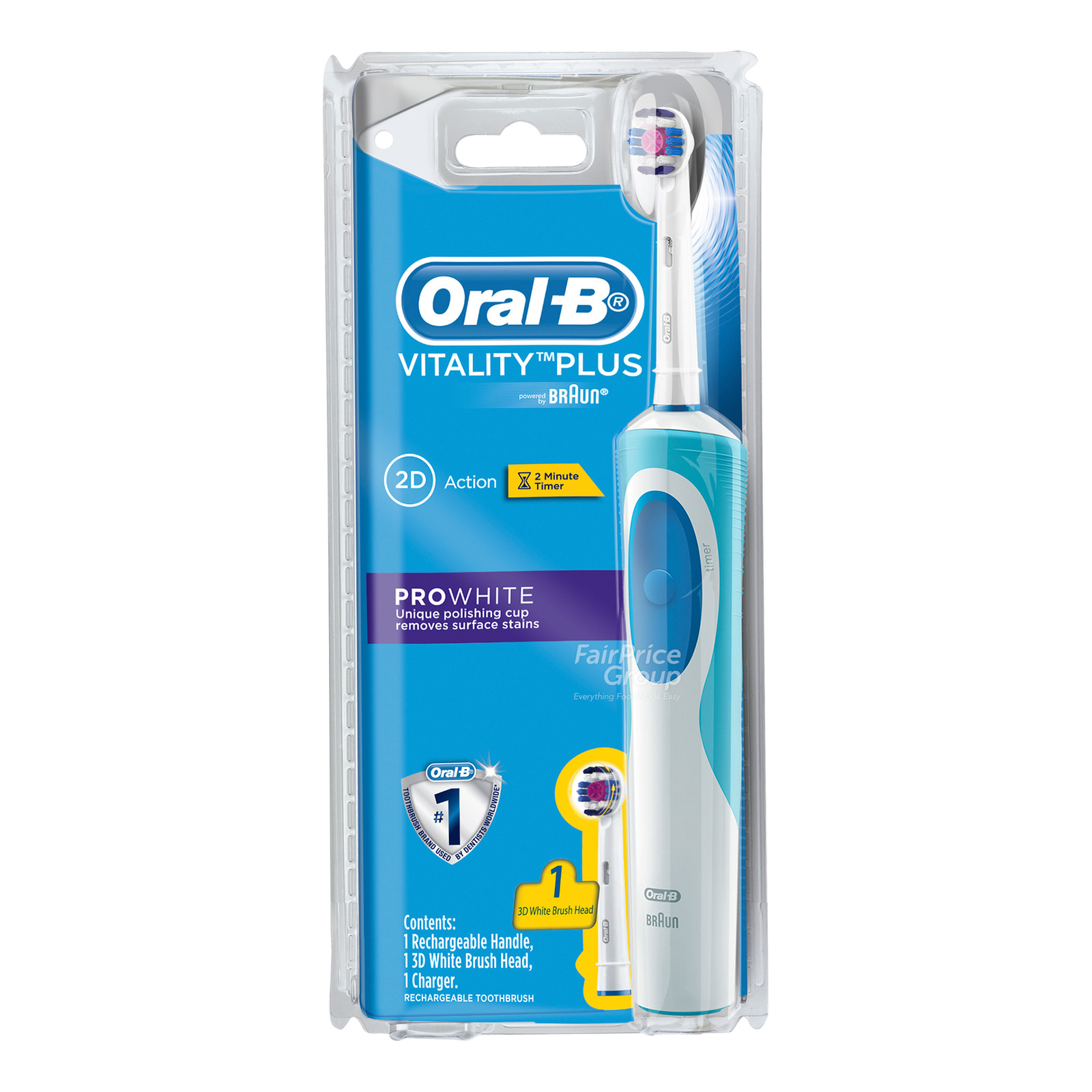 Oral-B Electric Rechargable Toothbrush - 2D Action