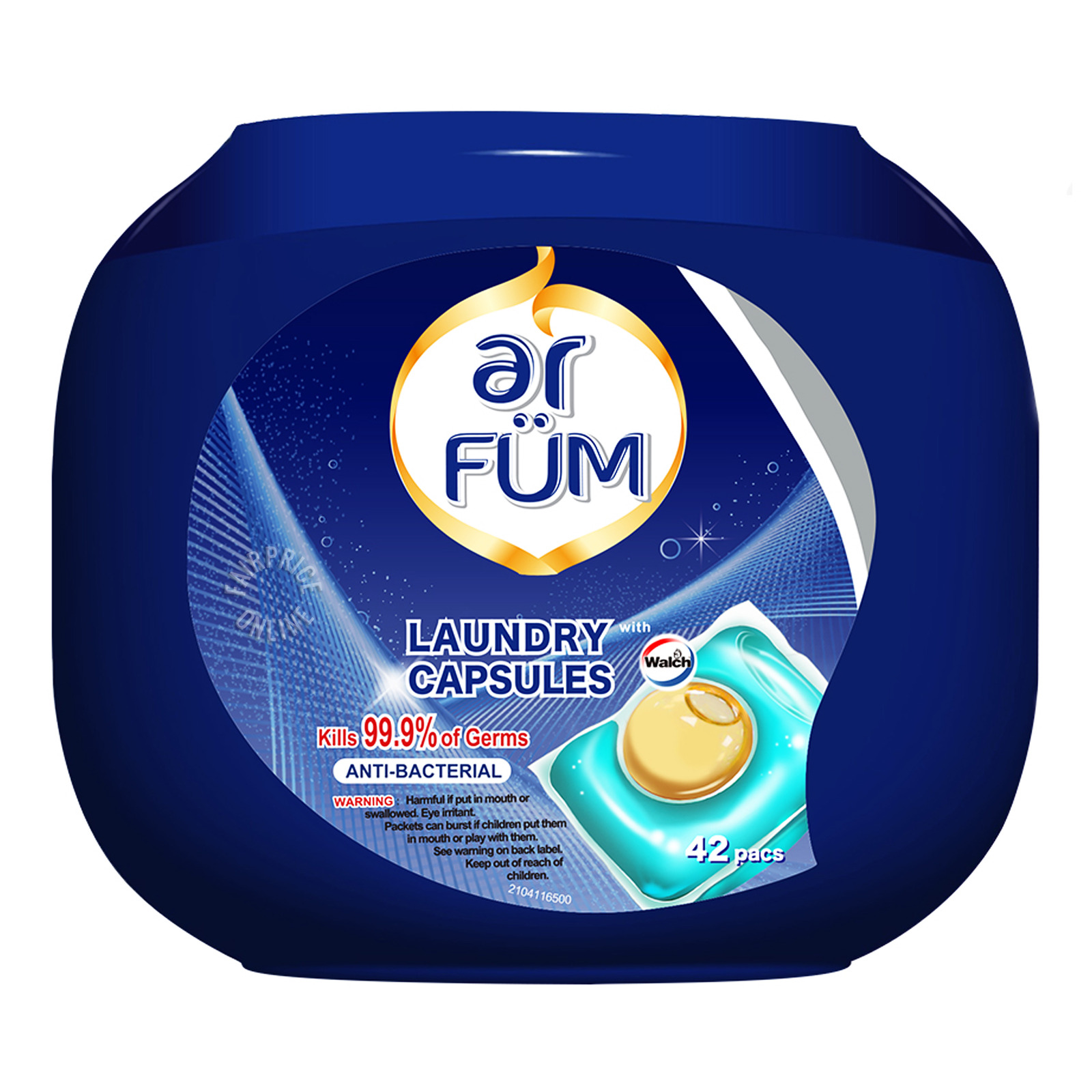 Ar Fum Anti-Bacterial Laundry Capsules