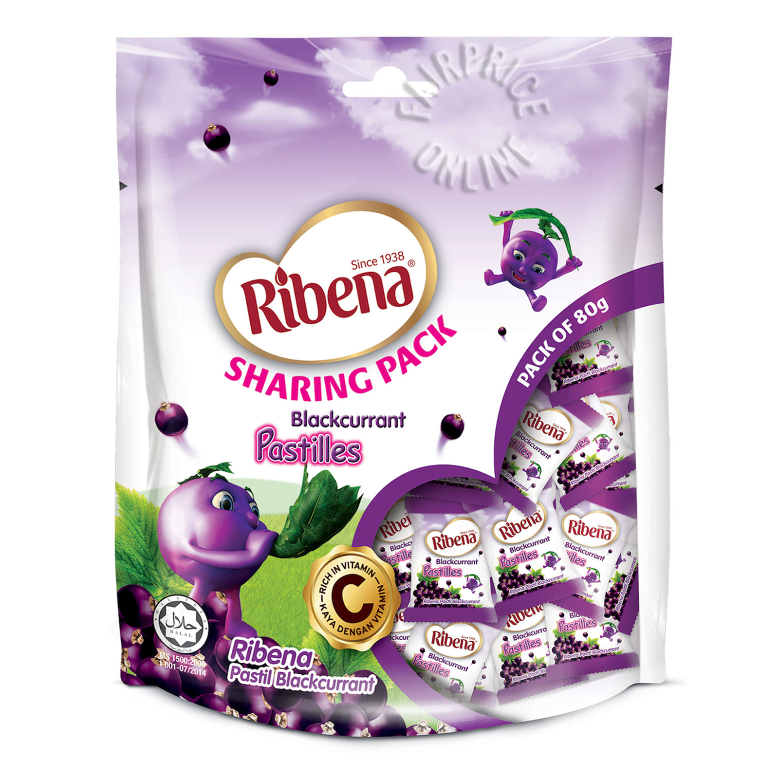 Ribena Blackcurrant Pastilles (Sharing Pack)