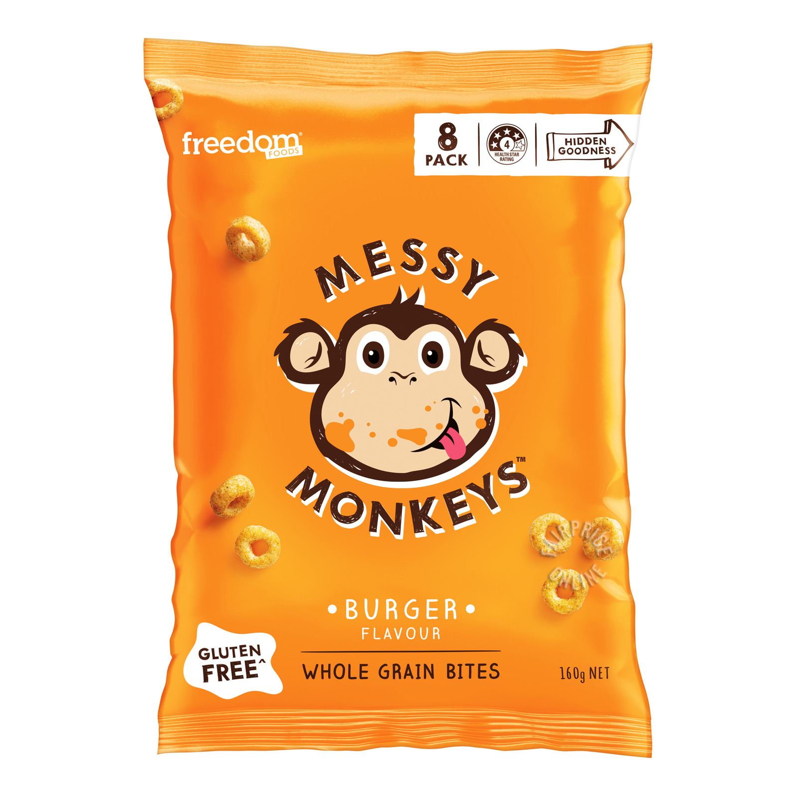 Freedom Foods Messy Monkeys Whole Grain Bites - Burger
