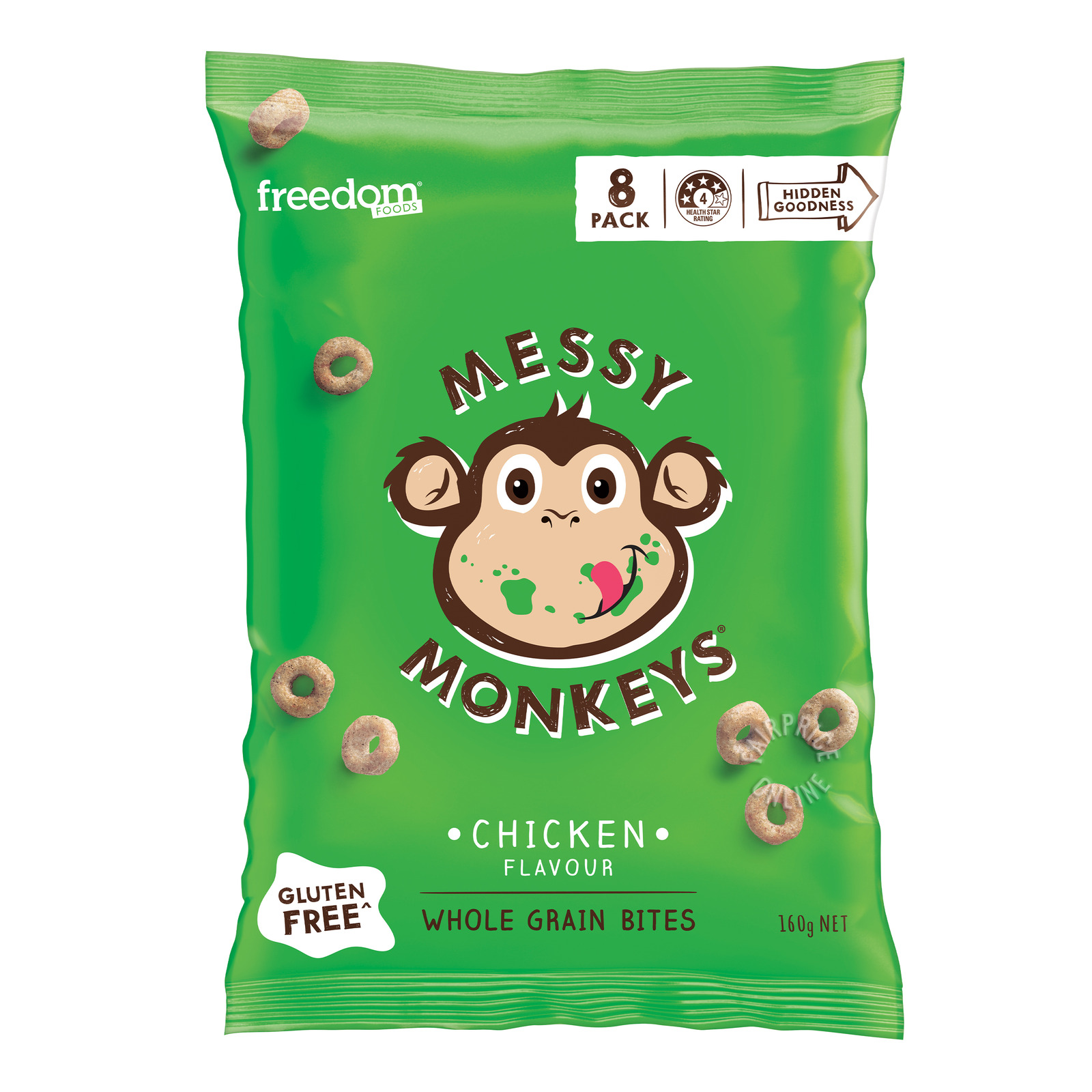 Freedom Foods Messy Monkeys Whole Grain Bites - Chicken