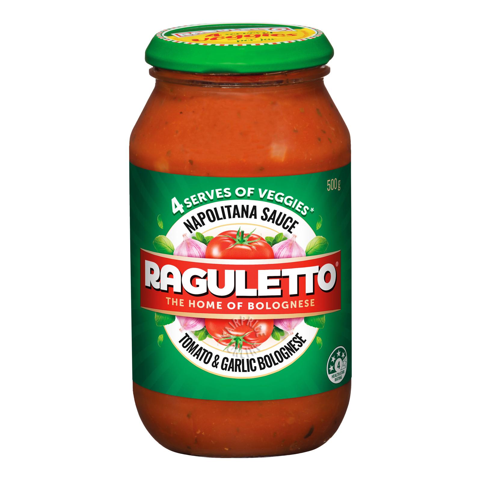 Raguletto Napolitana Pasta Sauce - Tomato & Garlic