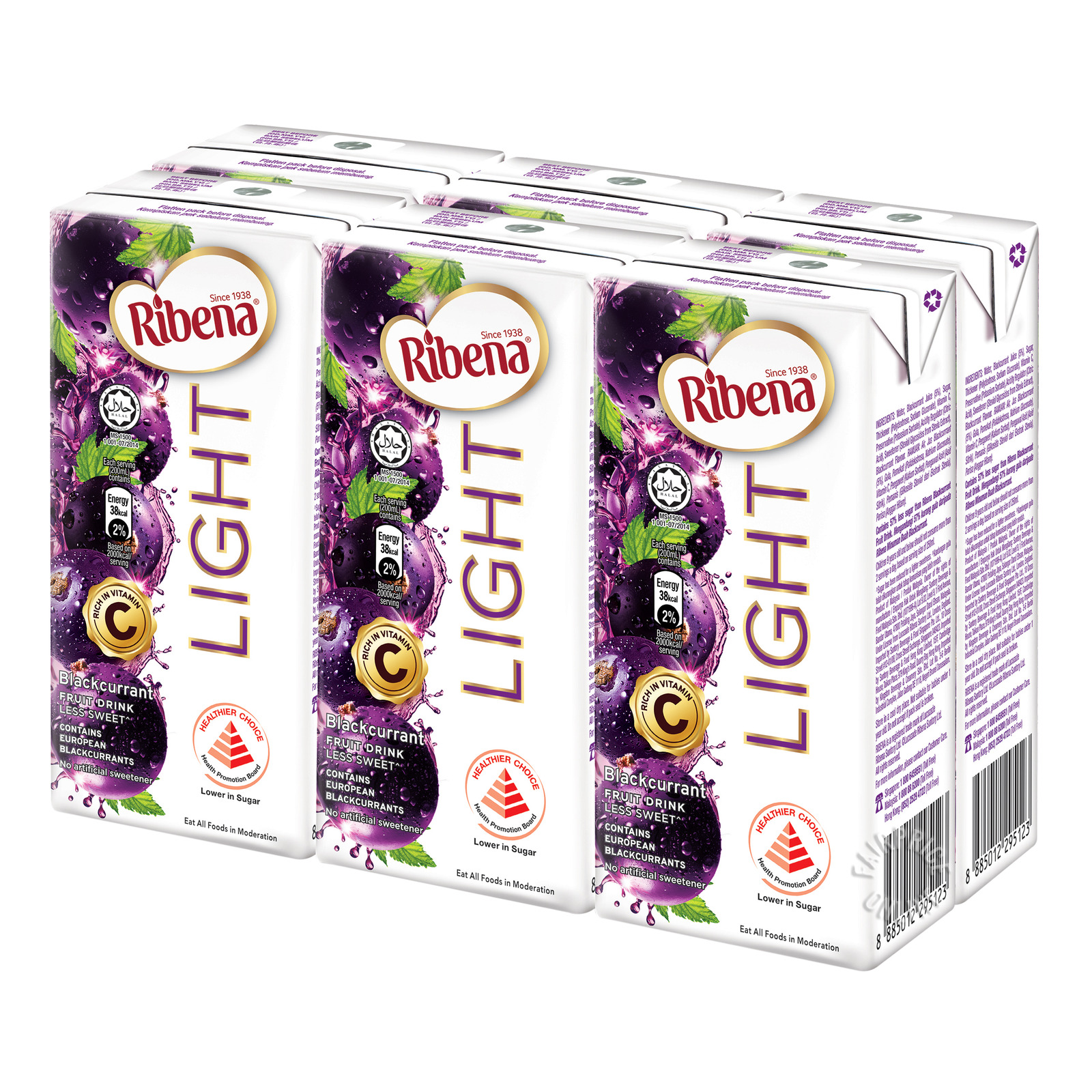 Ribena Blackcurrant Fruit Drink Packet - Light