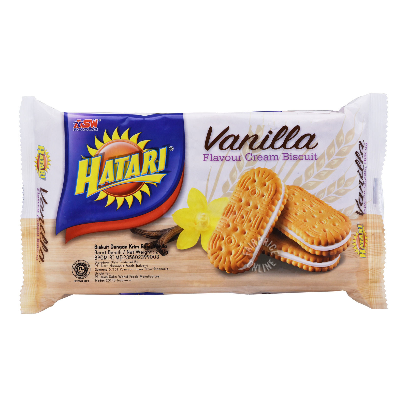 Hatari Cream Biscuits - Vanilla