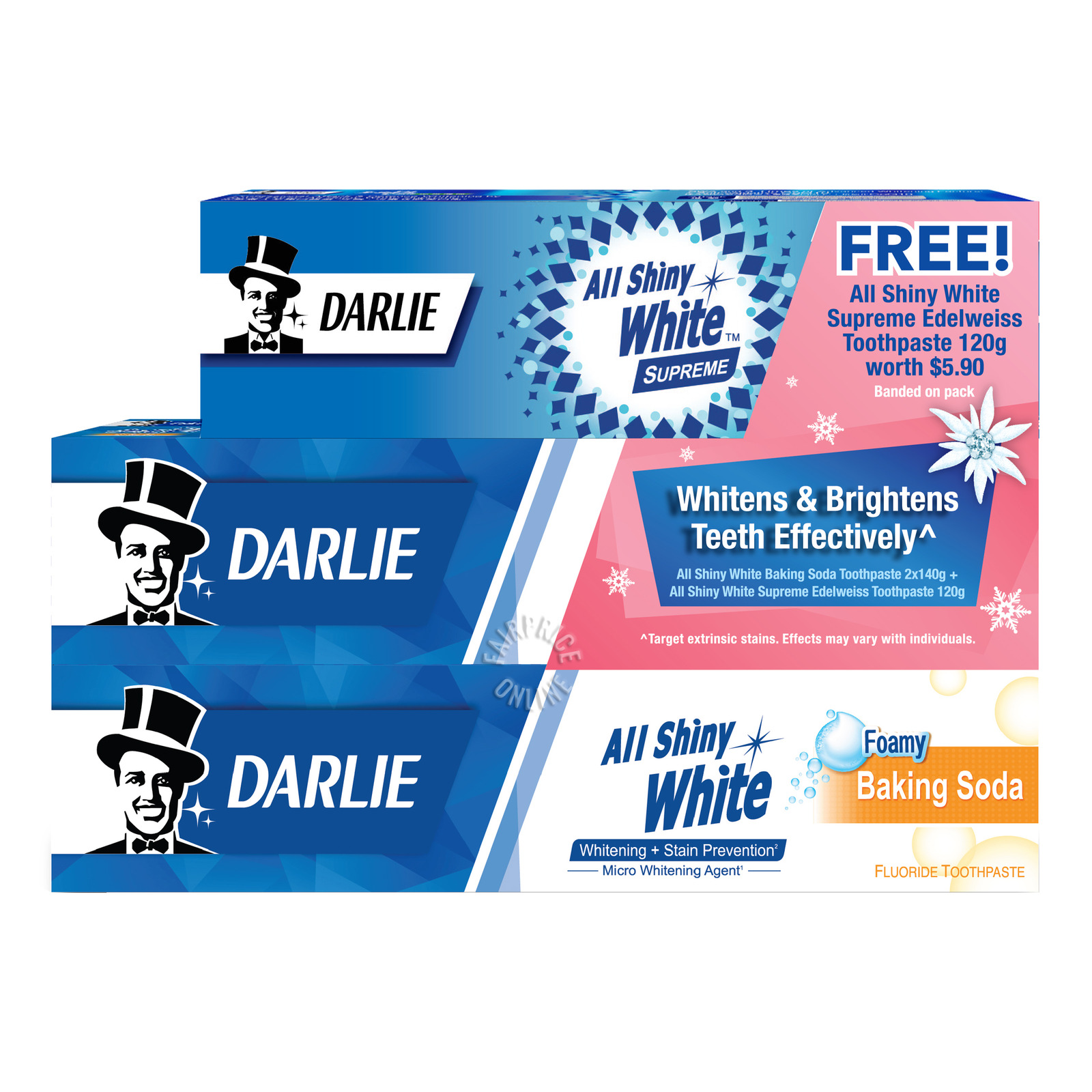 Darlie All Shiny White Toothpaste - Baking Soda +Edelweiss