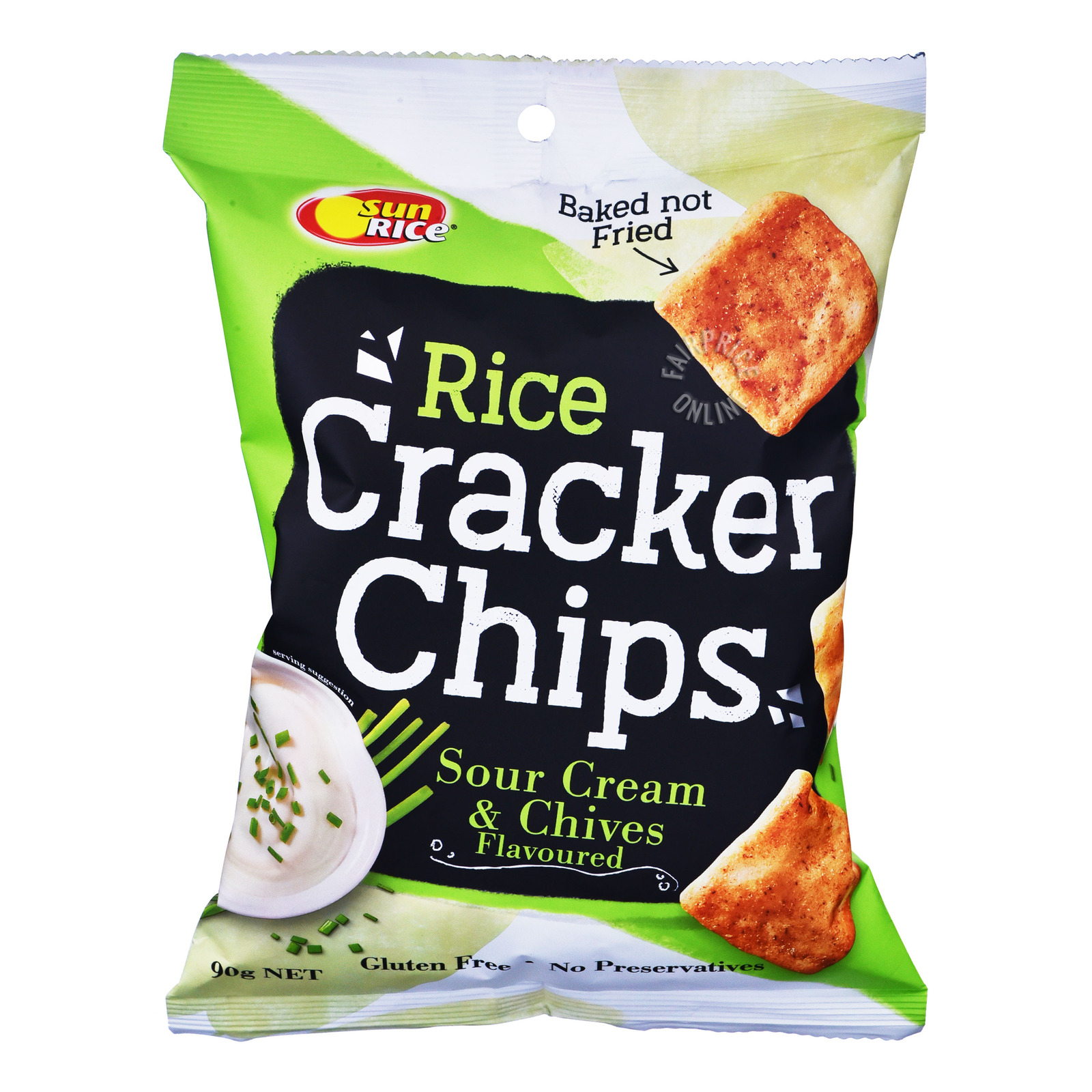 Sun Rice Rice Cracker Chips - Sour Cream & Chives
