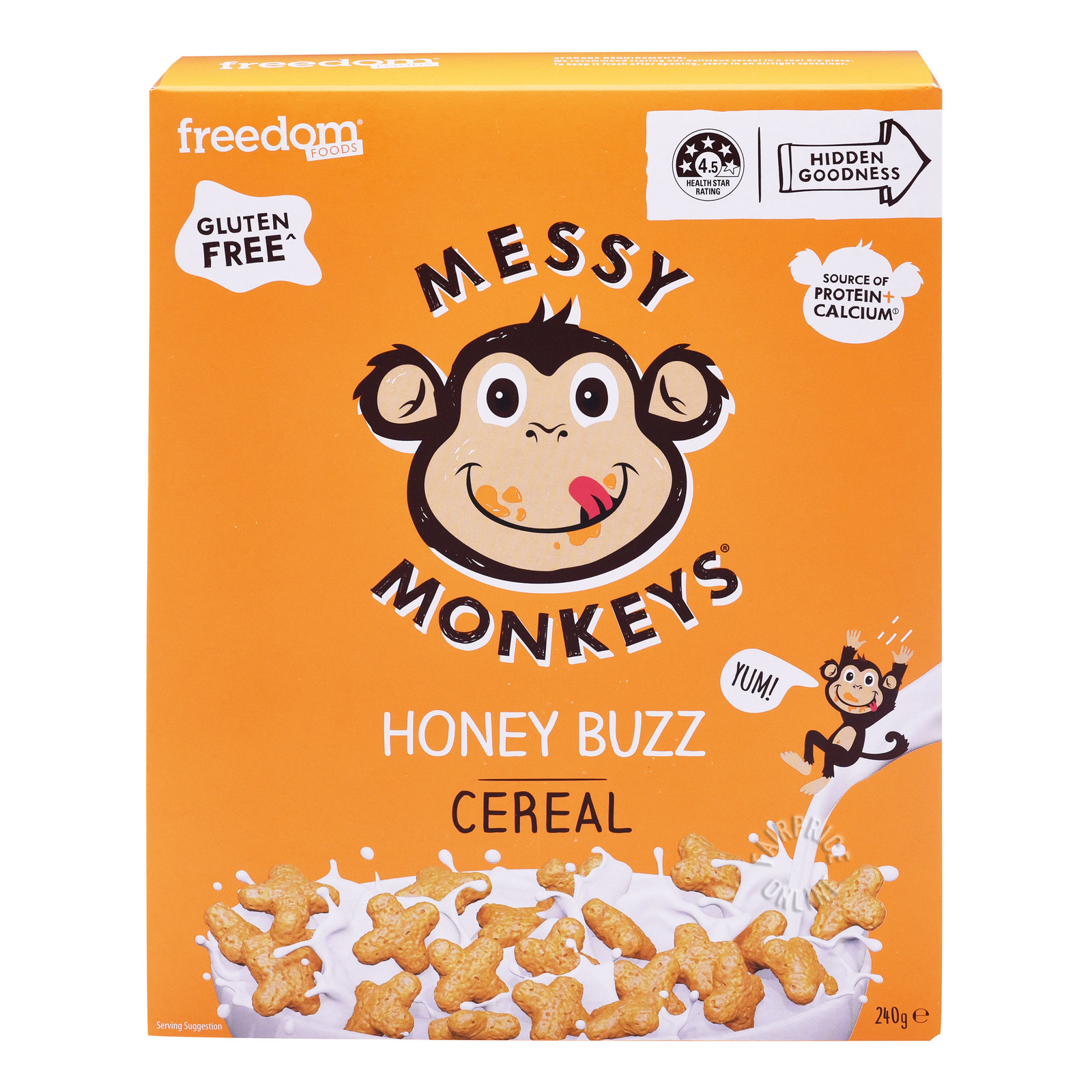 Freedom Foods Messy Monkeys Cereal - Honey Buzz