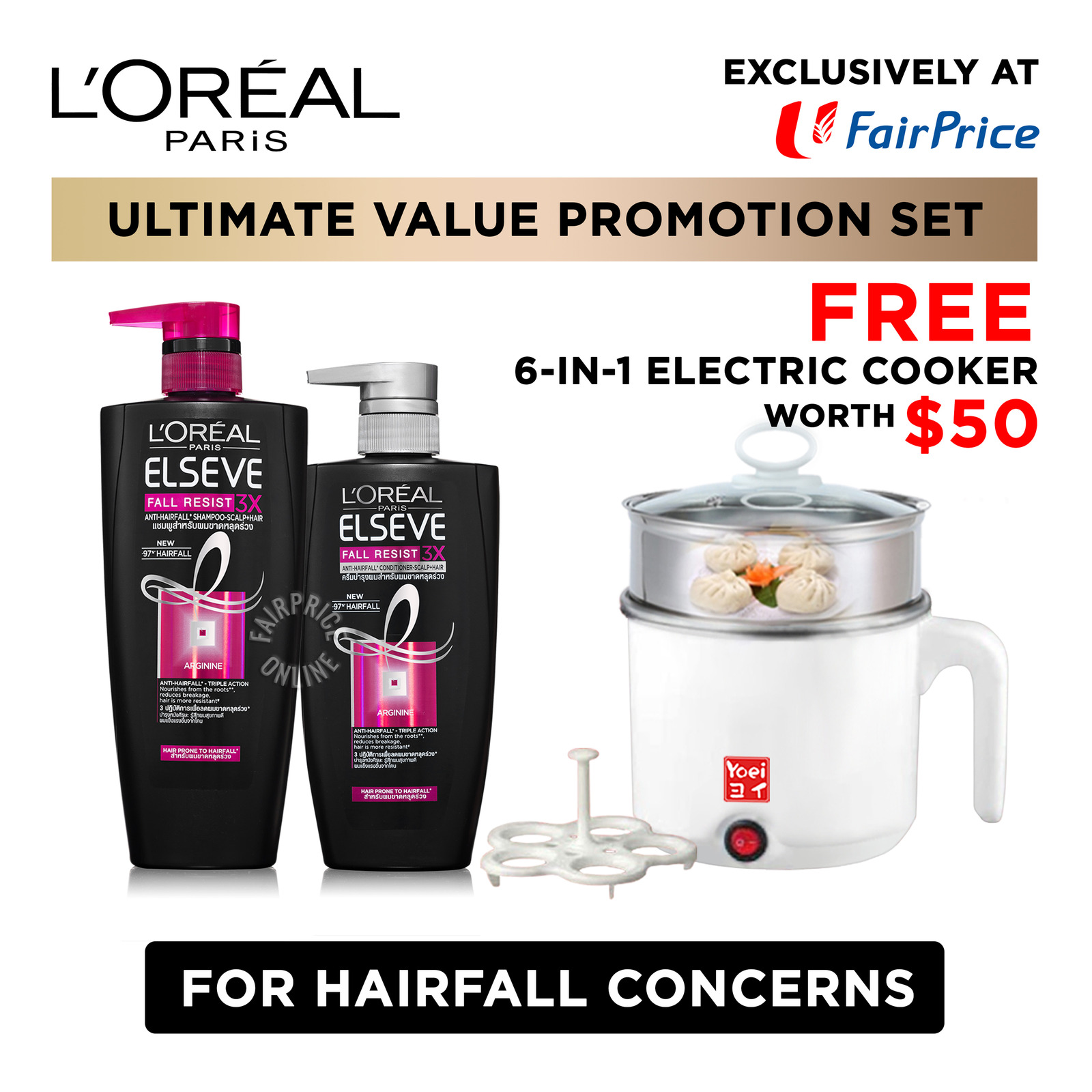 L'Oreal Paris Elseve Shampoo & Conditioner - Fall Resist